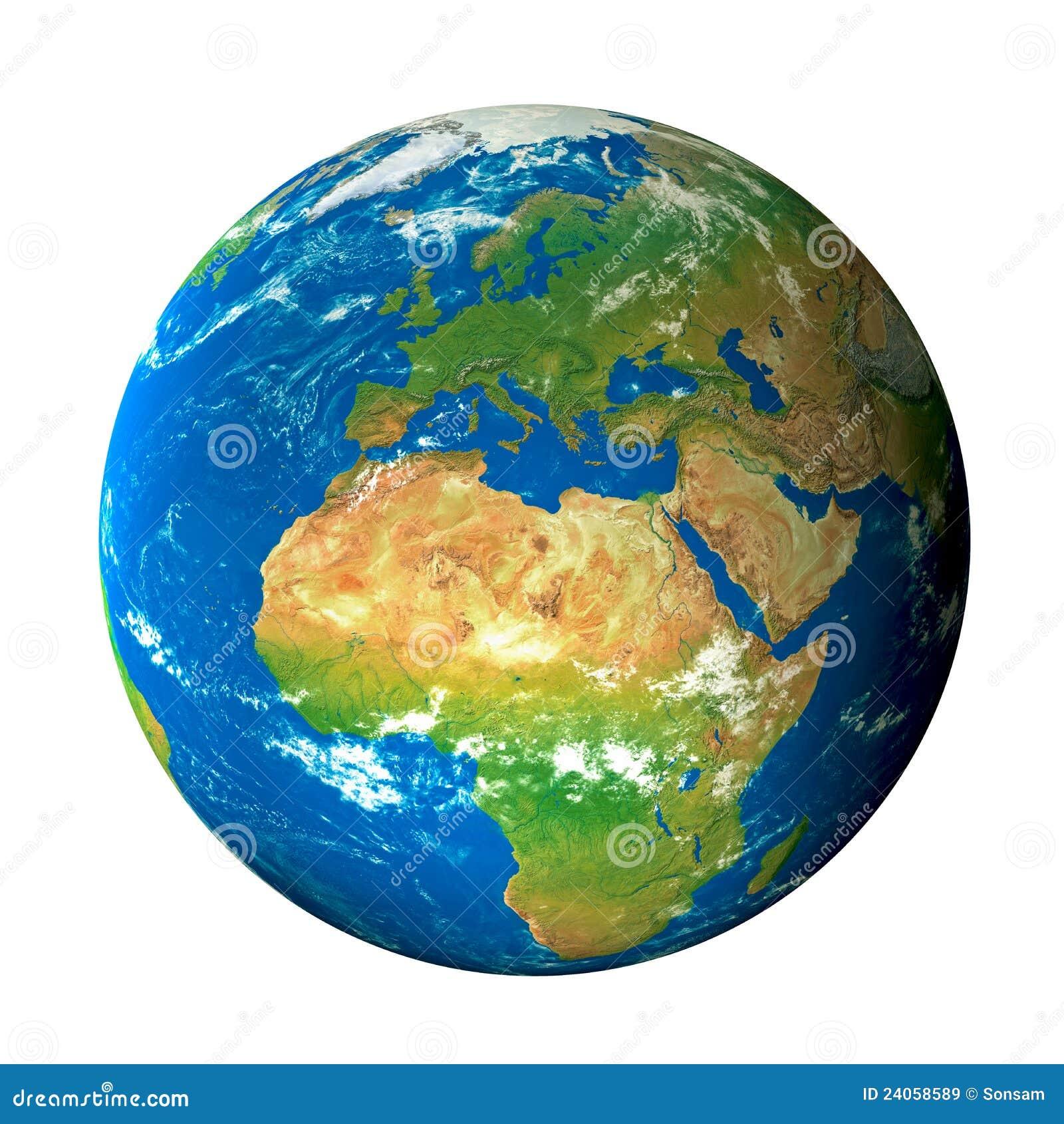 Modelo de terra do espaço: Opinião de Europa