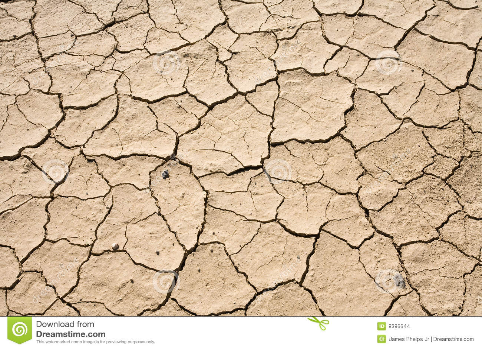 Modelo de tierra del fondo del desierto agrietado seco del fango