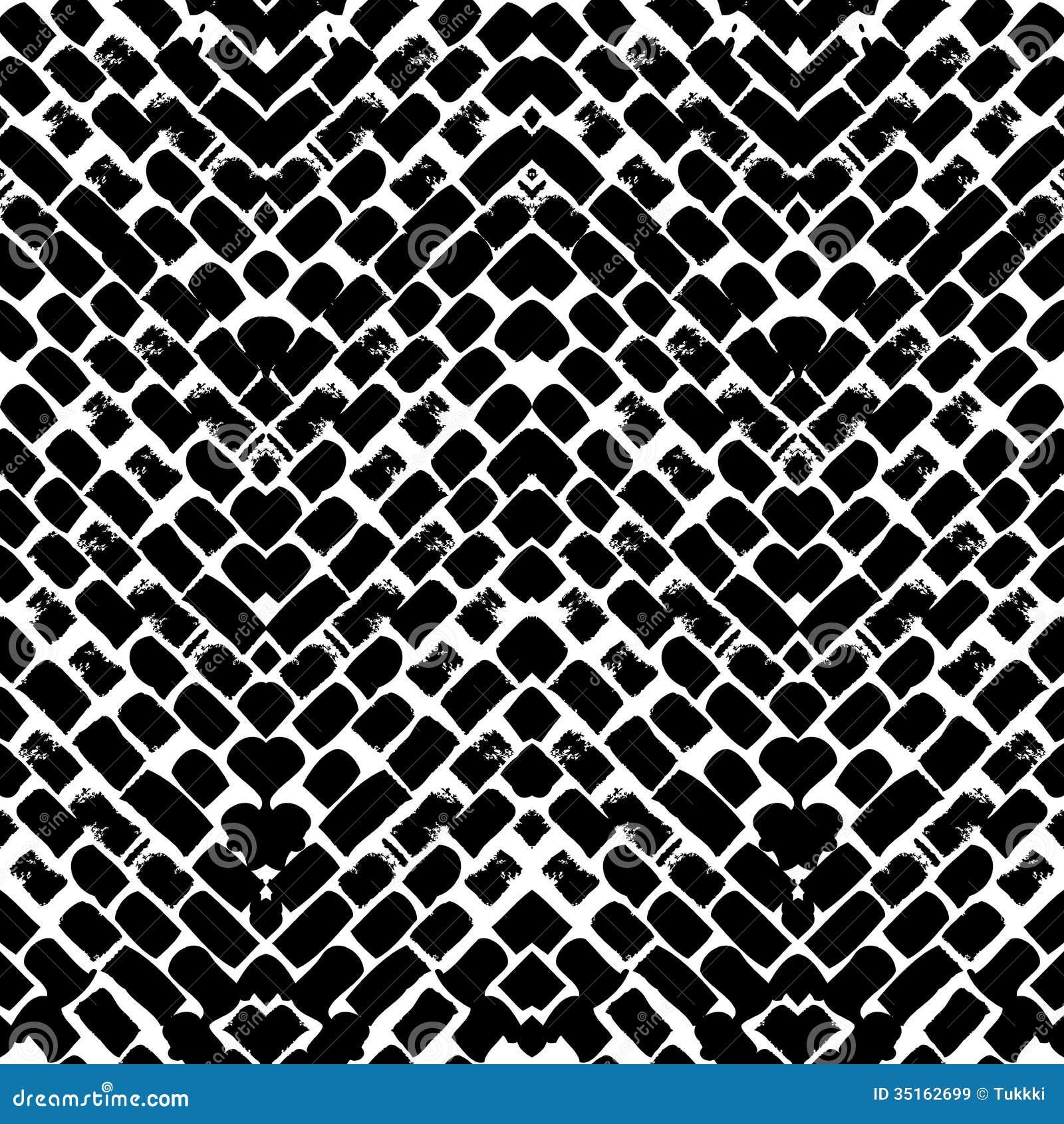 Modelo de zigzag pintado a mano blanco y negro im genes de - Papel pintado blanco y negro ...