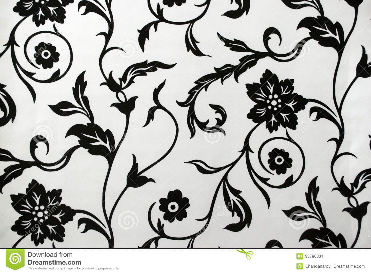 Modelo decorativo del papel pintado en blanco y negro for Carte da parati decorative