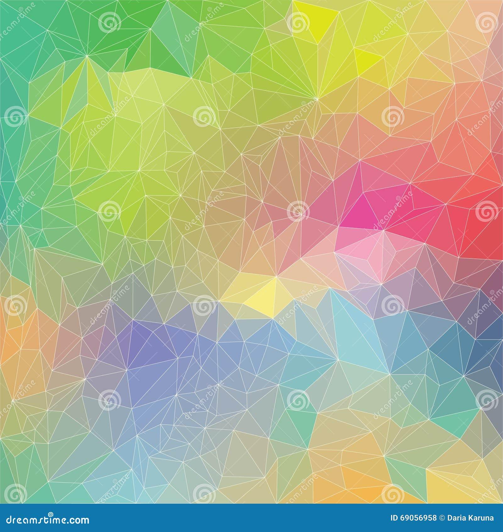 Modelo del arco iris del polígono