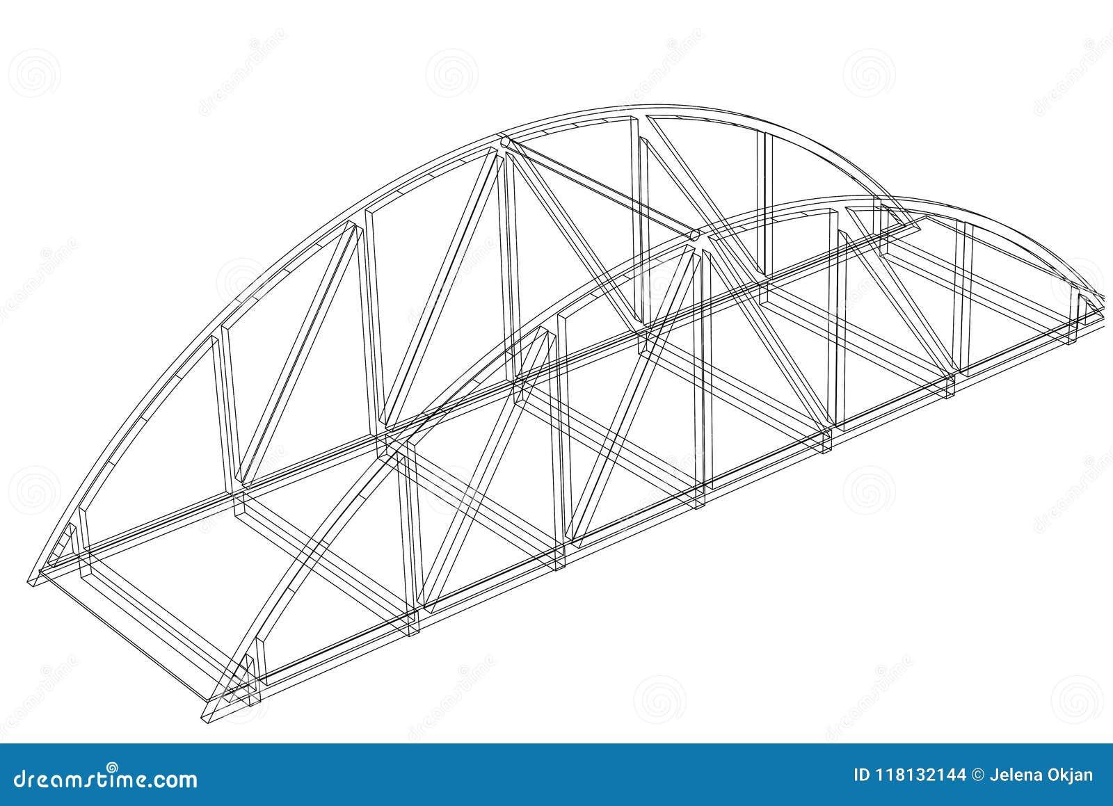 Modelo del arquitecto del puente - aislado