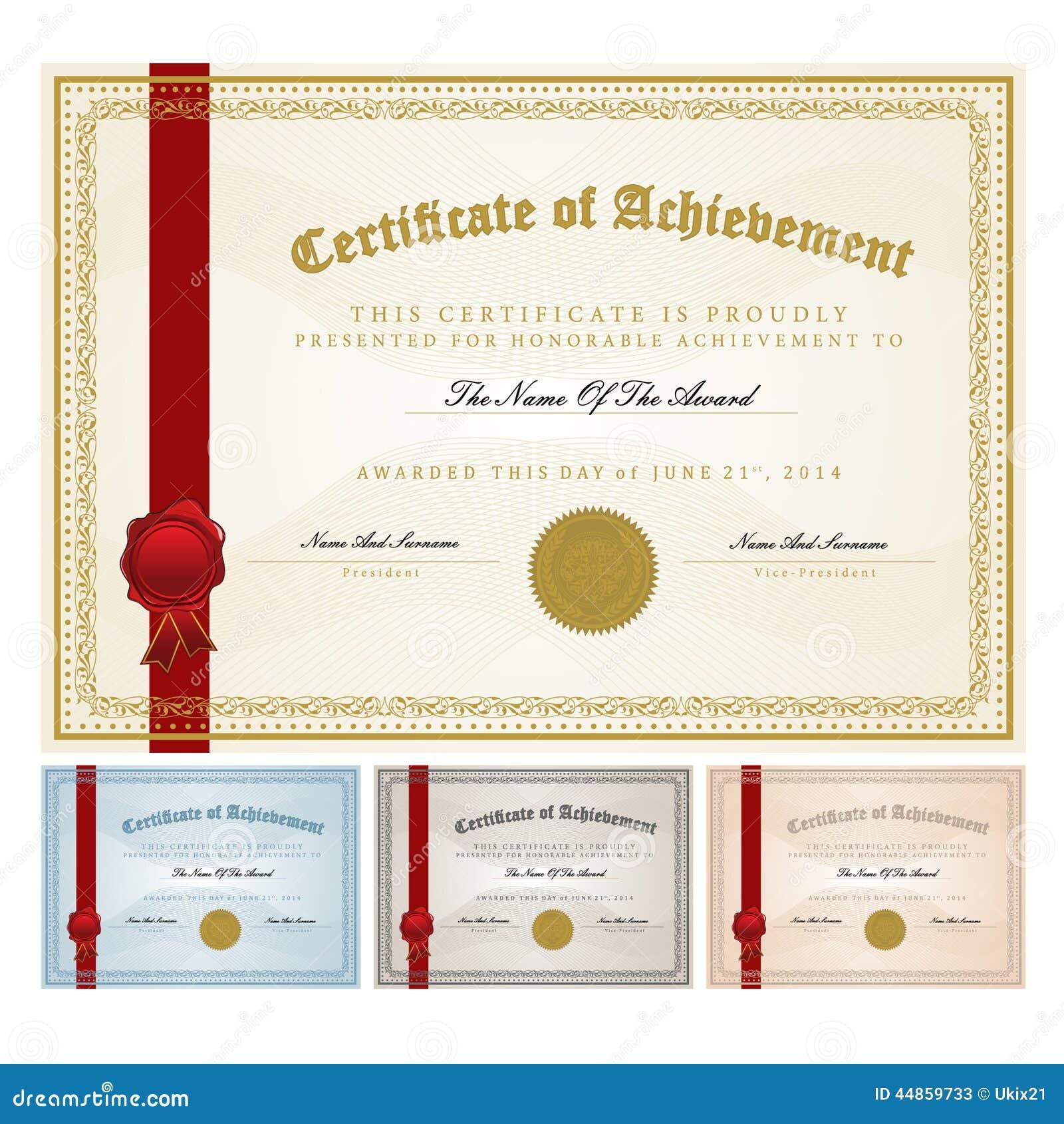 Modelo del certificado