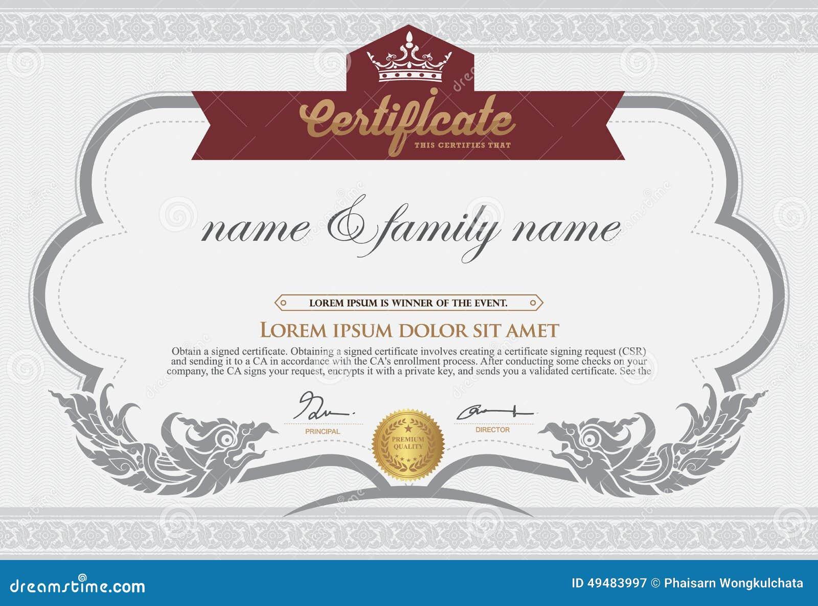 Certificado En Blanco De La Concesión Stock de ilustración ...