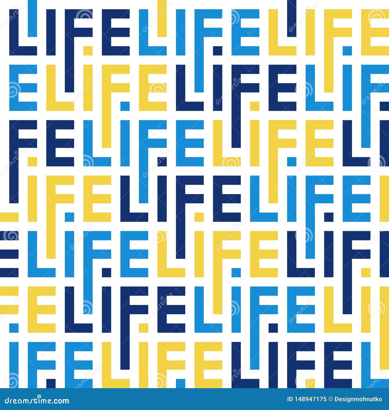 Modelo del color de las letras de la vida de la palabra