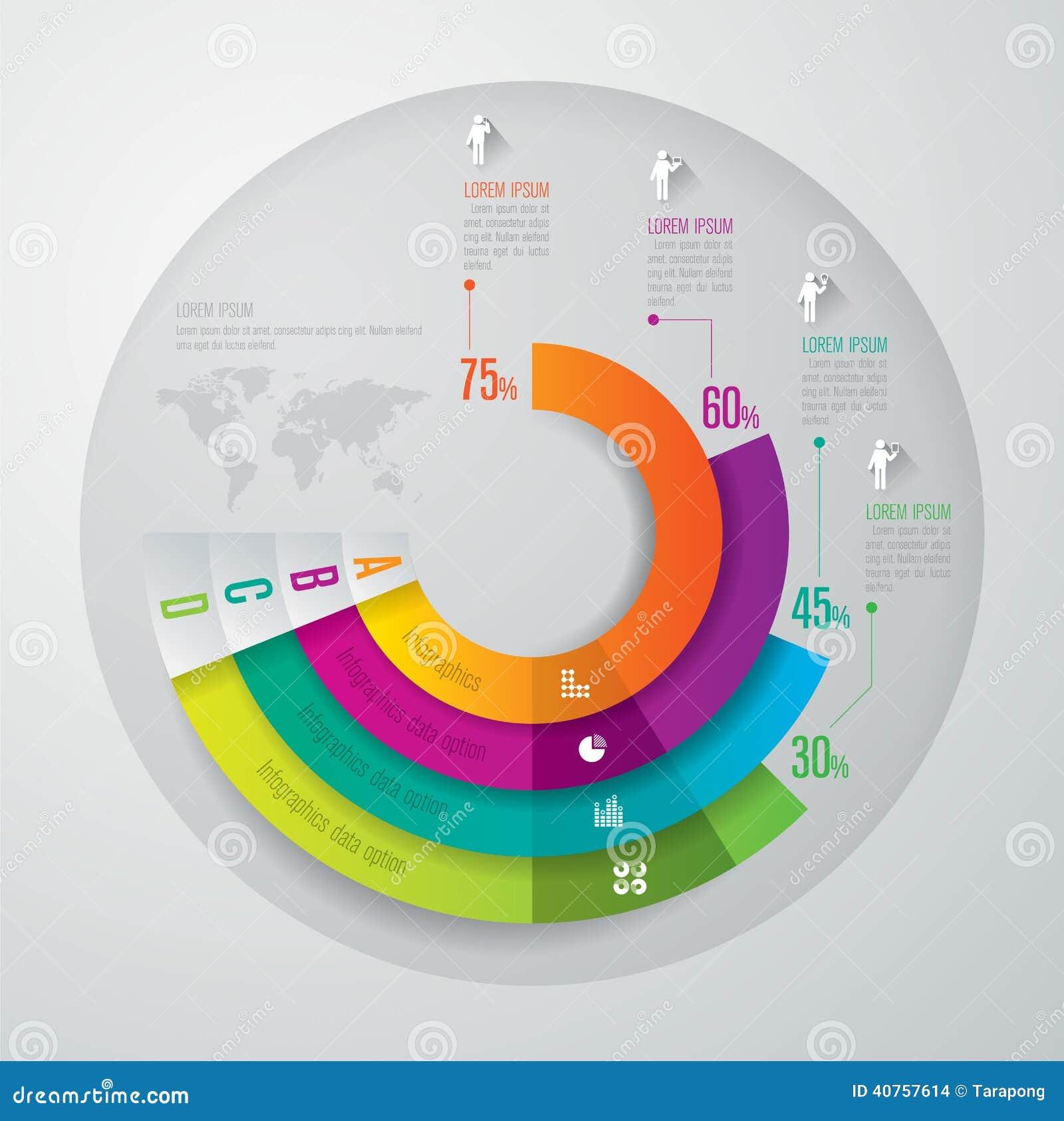 Modelo del diseño de Infographics