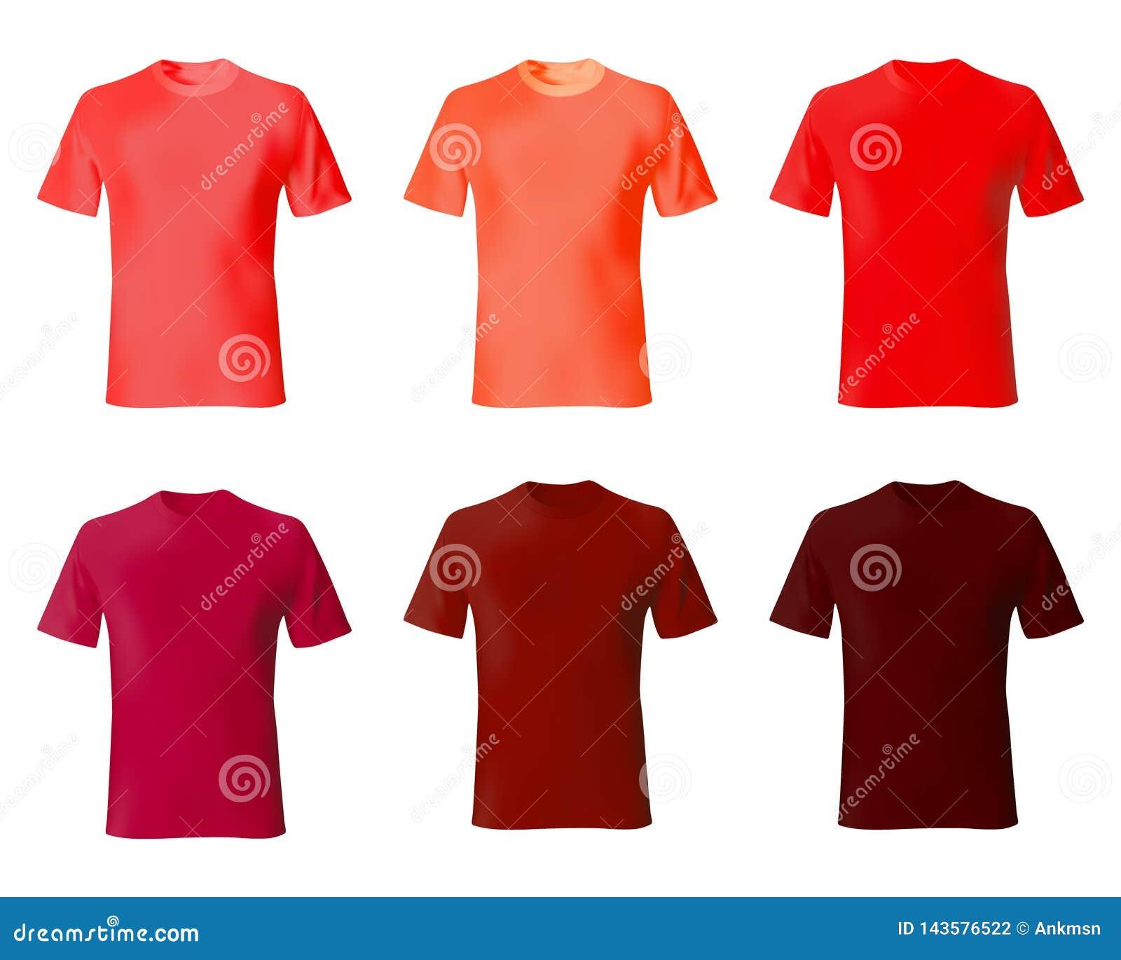 Modelo del diseño de la camiseta Color rojo de las camisas determinadas de los hombres Moda masculina de la maqueta del modelo re