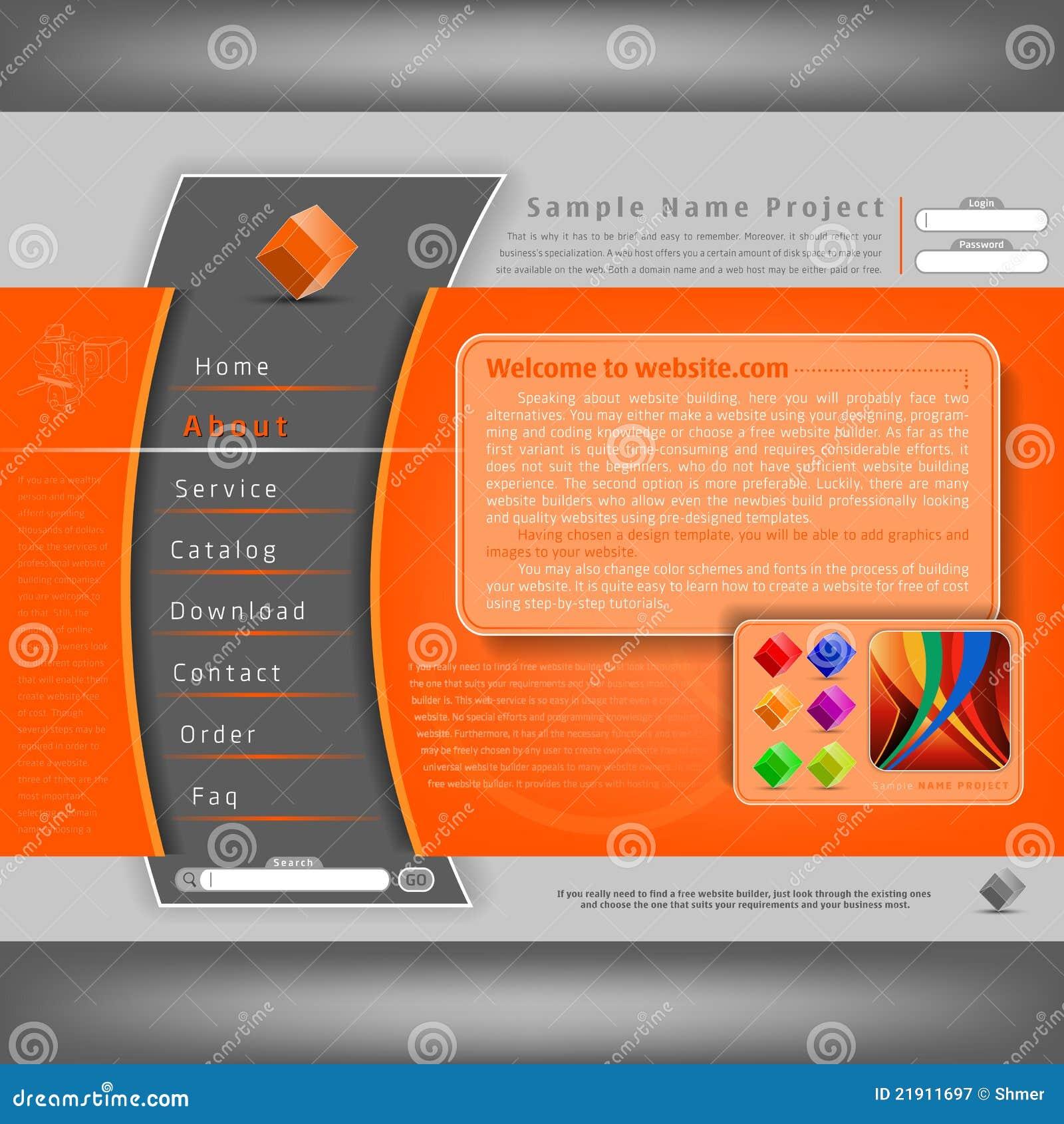 Modelo del diseño del Web site del vector