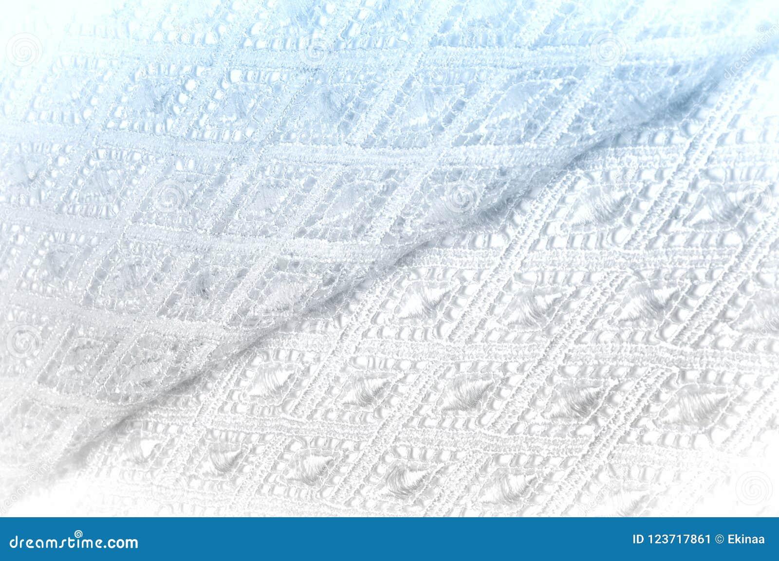 Modelo Del Fondo De La Textura Tela Blanca De Encaje Cordón Hecho A ...