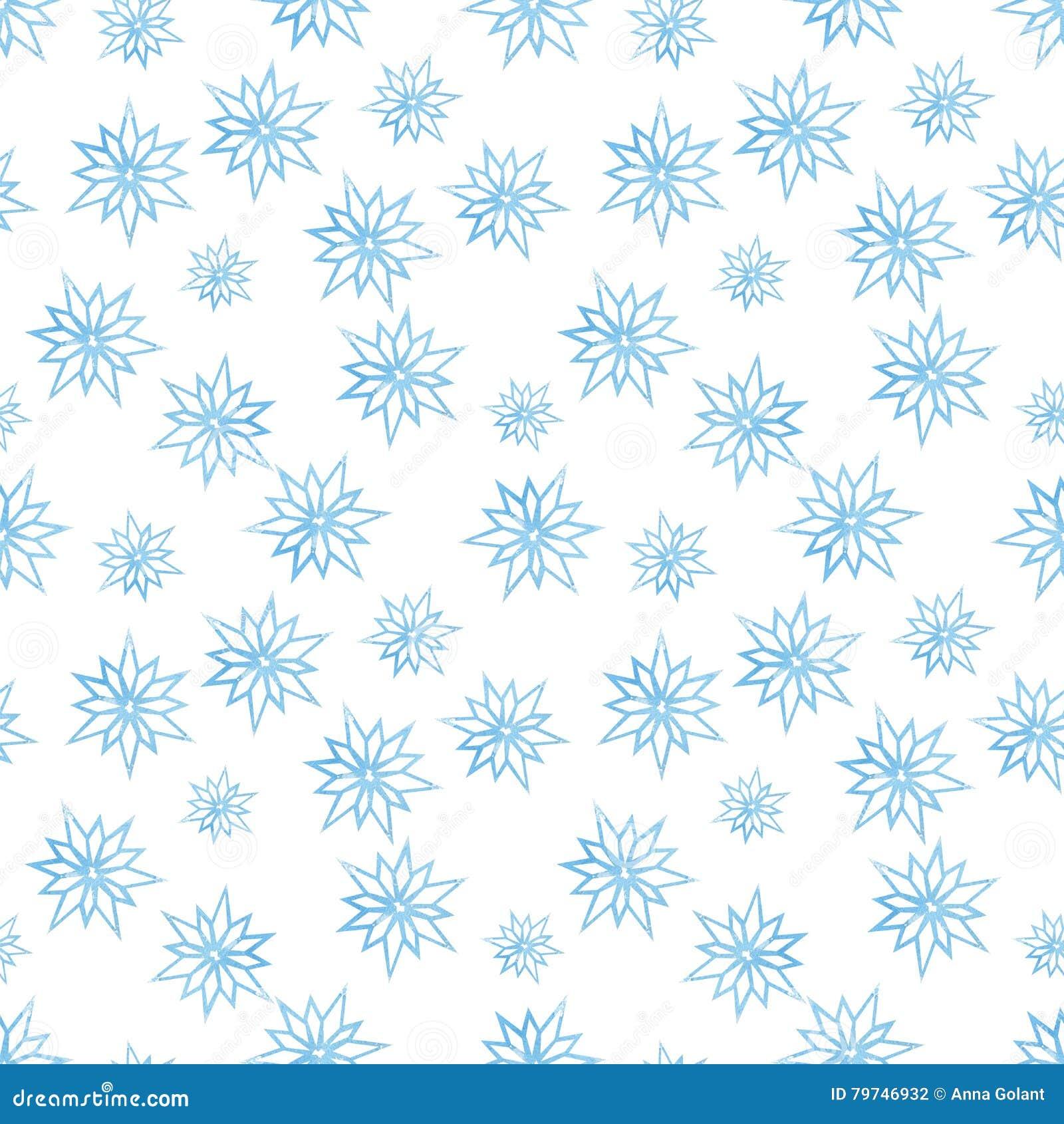 Modelo del invierno con los copos de nieve en un fondo blanco