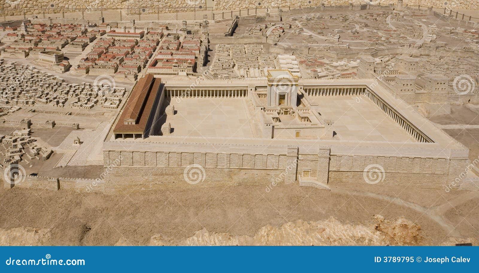 Modelo del segundo templo en el museo de Israel