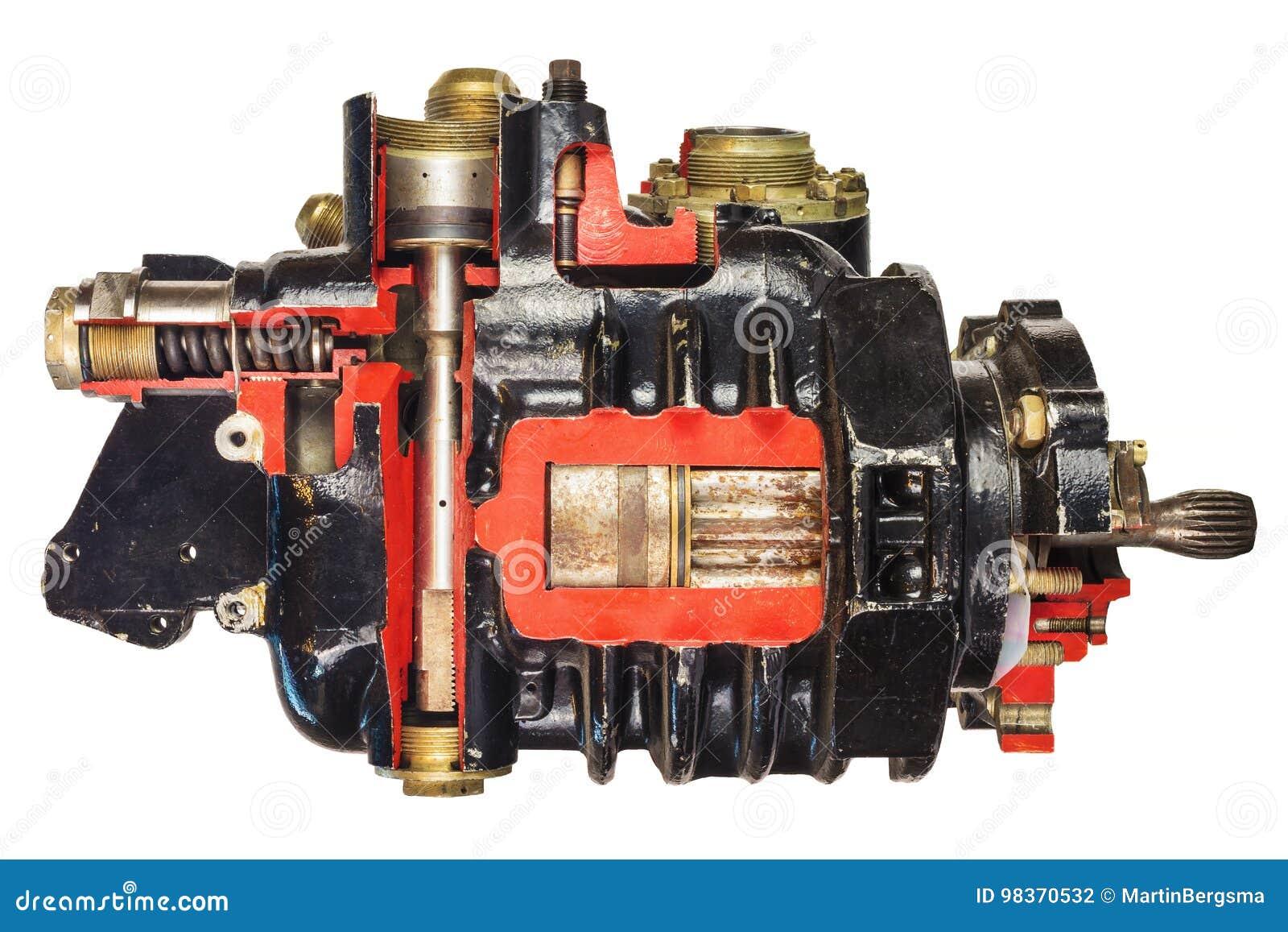 Modelo Del Vintage De Un Motor De Coche Clásico Con El Foco En ...