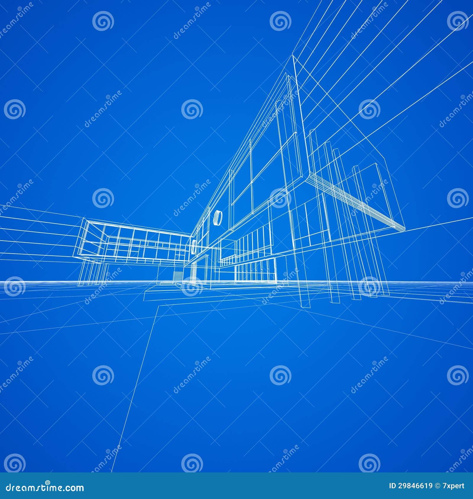 Modelo do conceito no azul