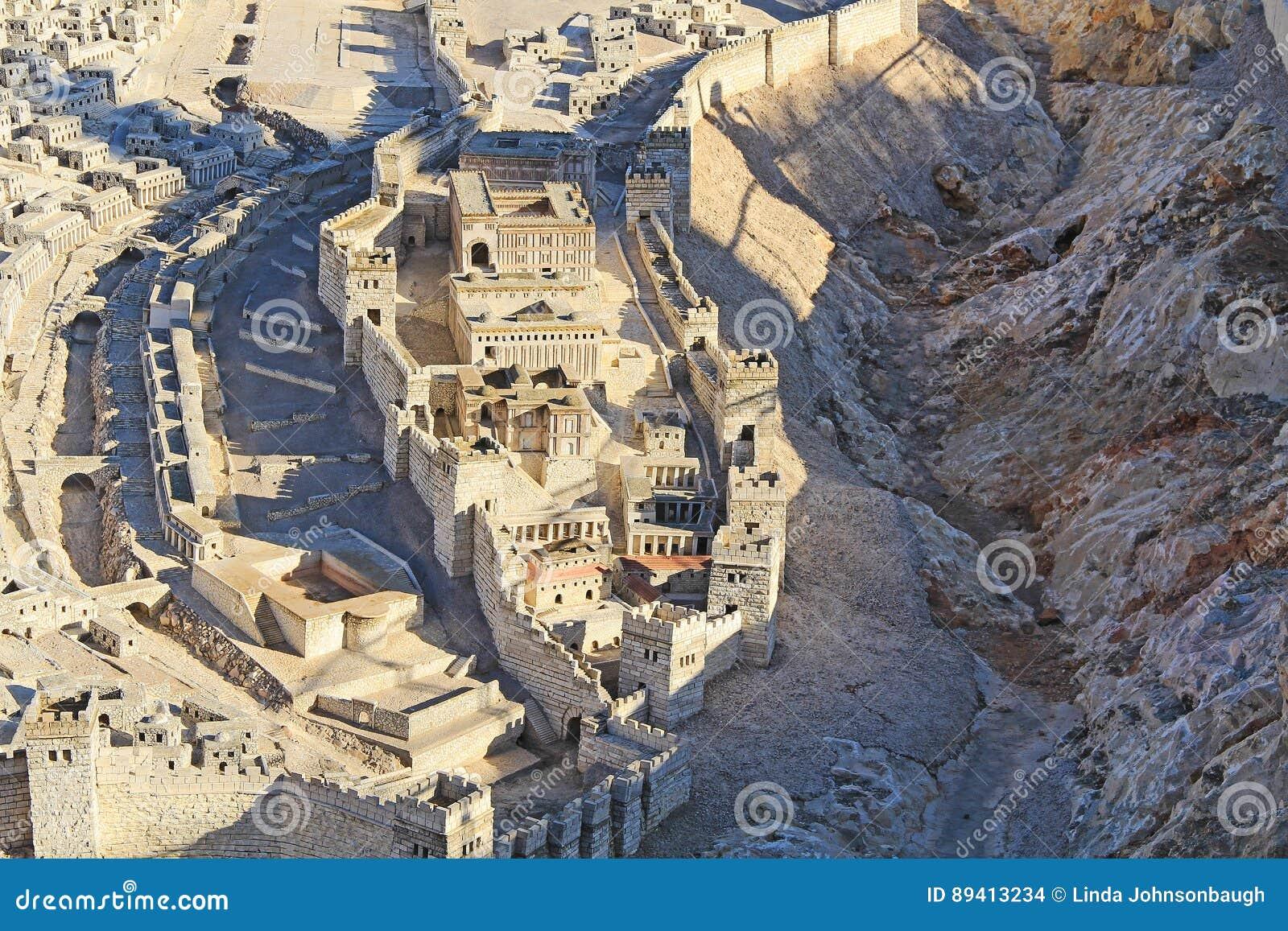 Modelo do Jerusalém antigo e da cidade mais baixa