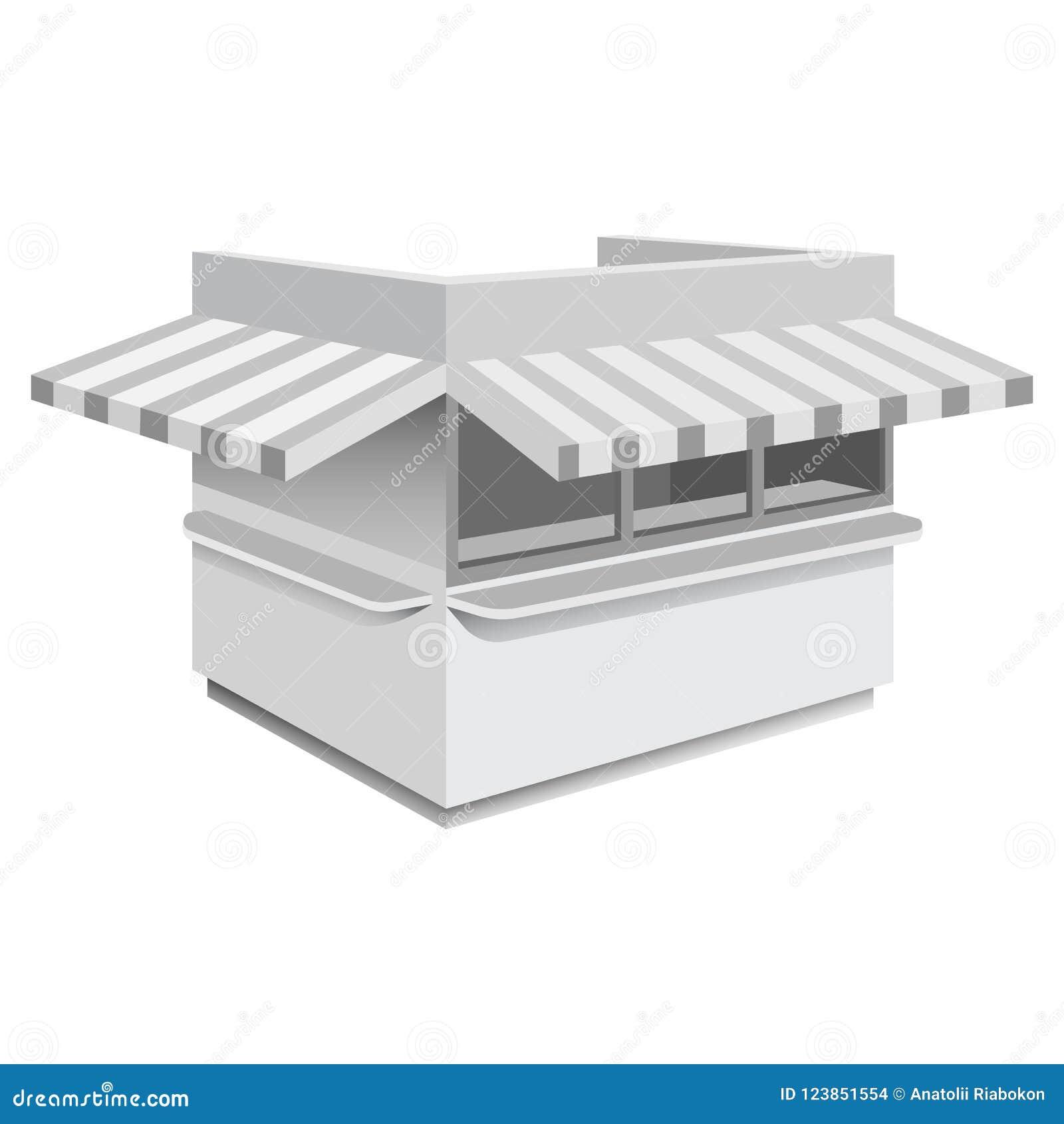Modelo do quiosque, estilo realístico