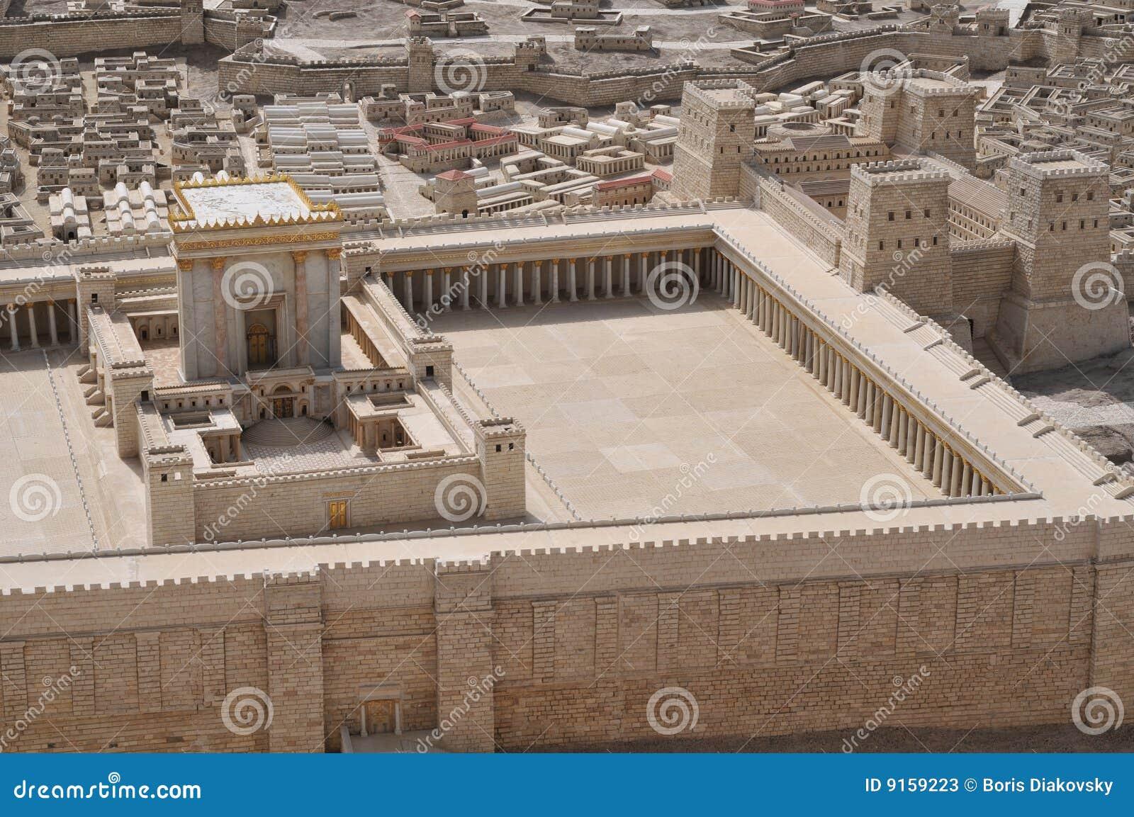 Modelo do templo antigo de Jerusalem
