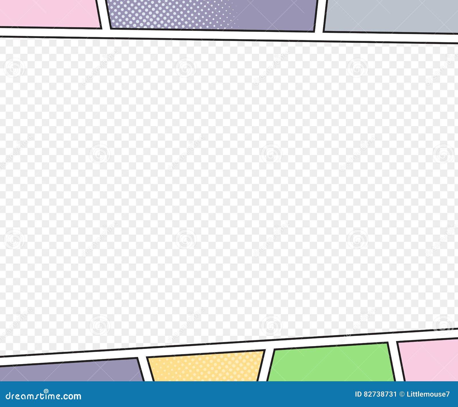 Modelo do vetor da página da banda desenhada estilo do pop art