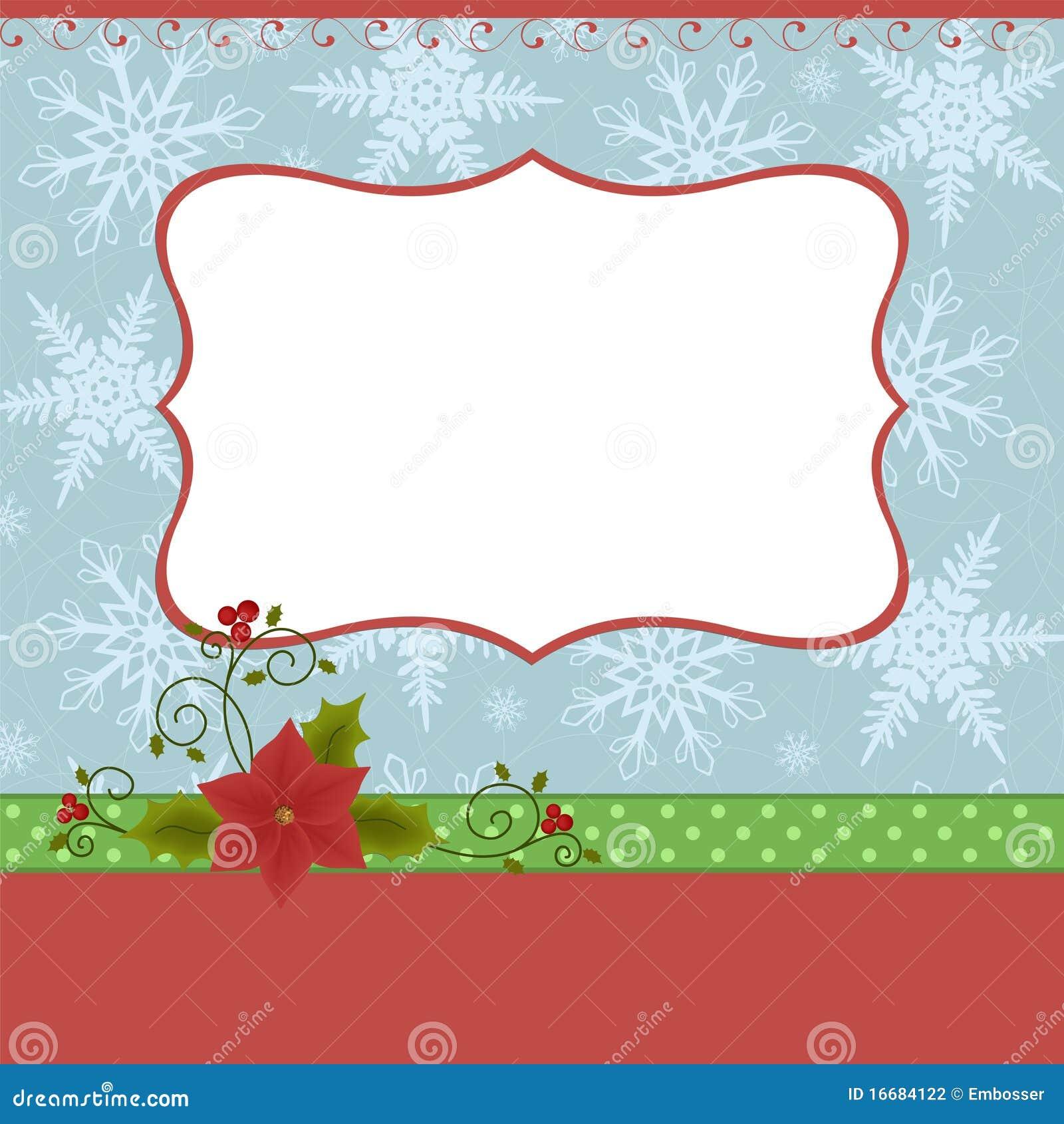 modelo en blanco para la tarjeta de de la navidad fotografa de archivo