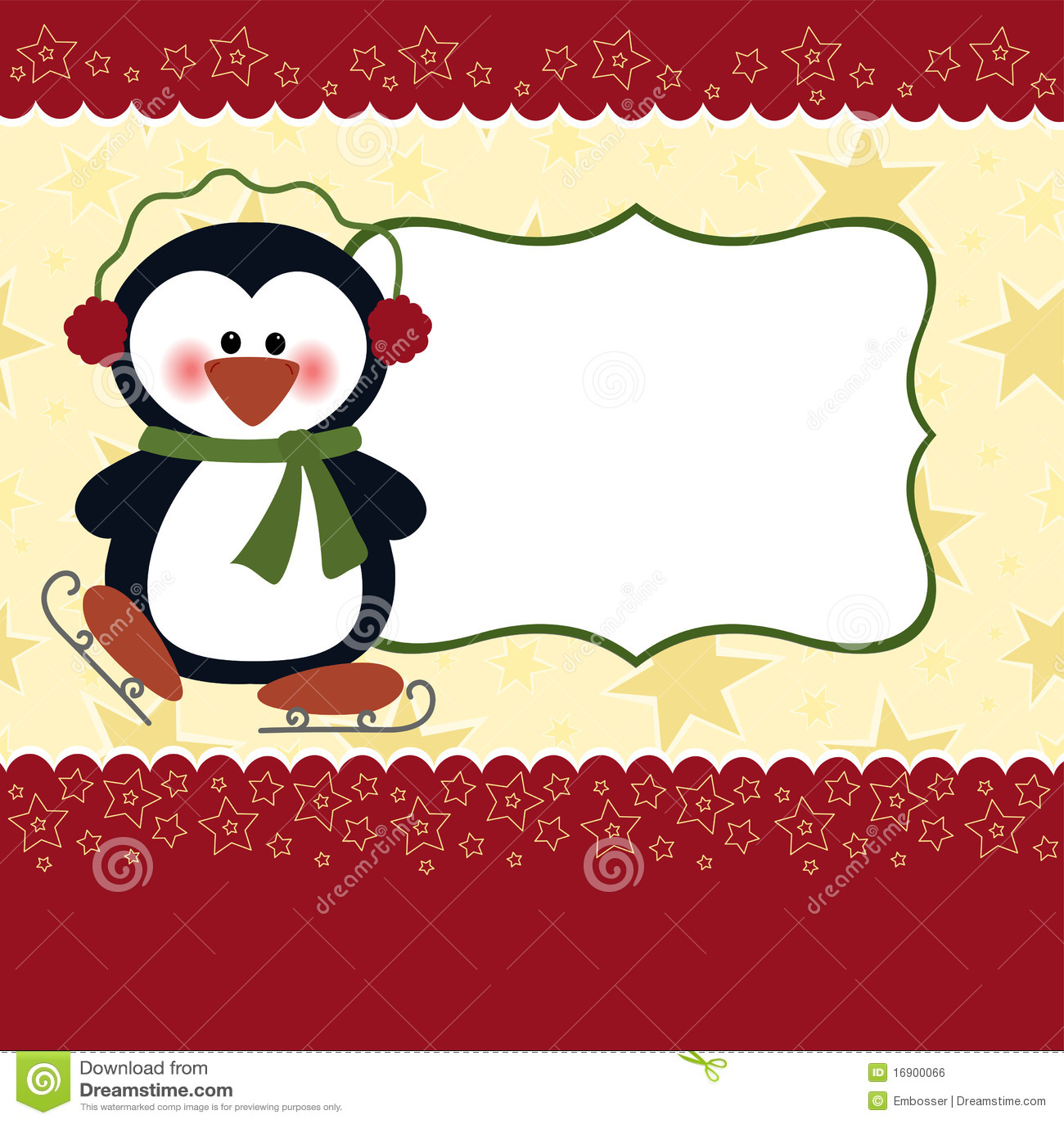 Modelo en blanco para la tarjeta de felicitaciones de la - Dibujos para una postal de navidad ...
