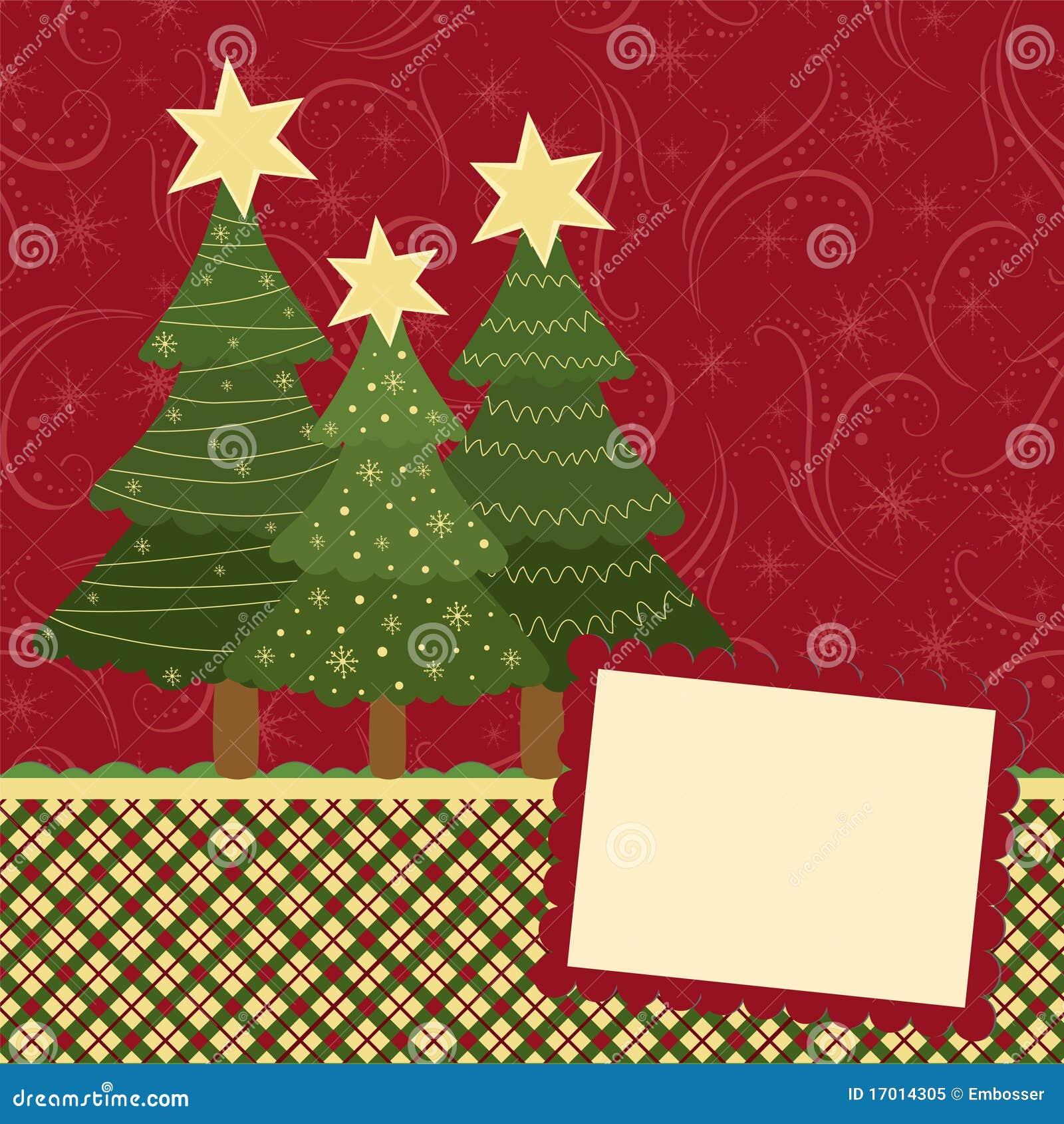 Modelo en blanco para la tarjeta de felicitaciones de la - Tarjetas felicitacion navidad ...