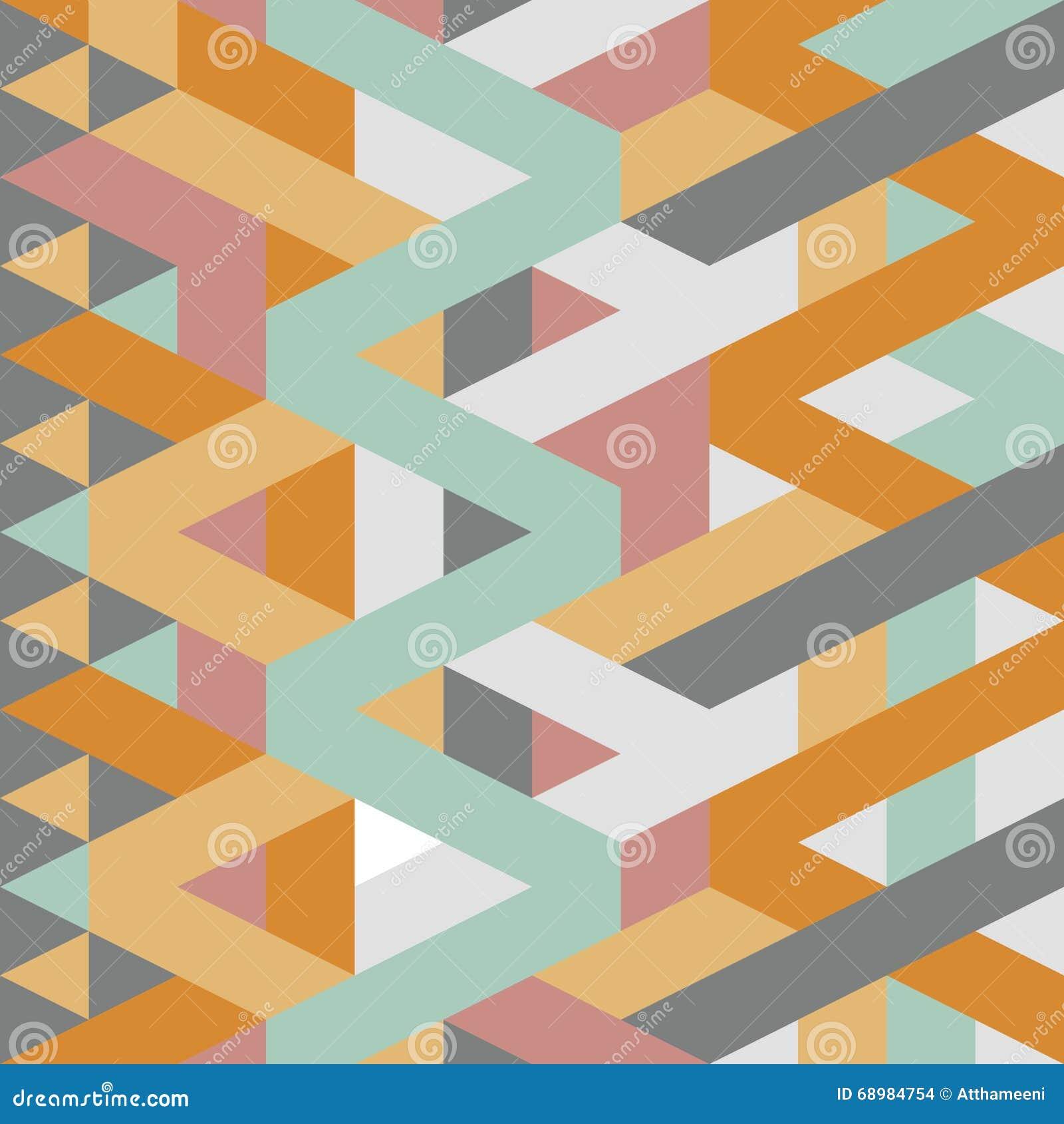Modelo en colores pastel geométrico retro abstracto del estilo del art déco