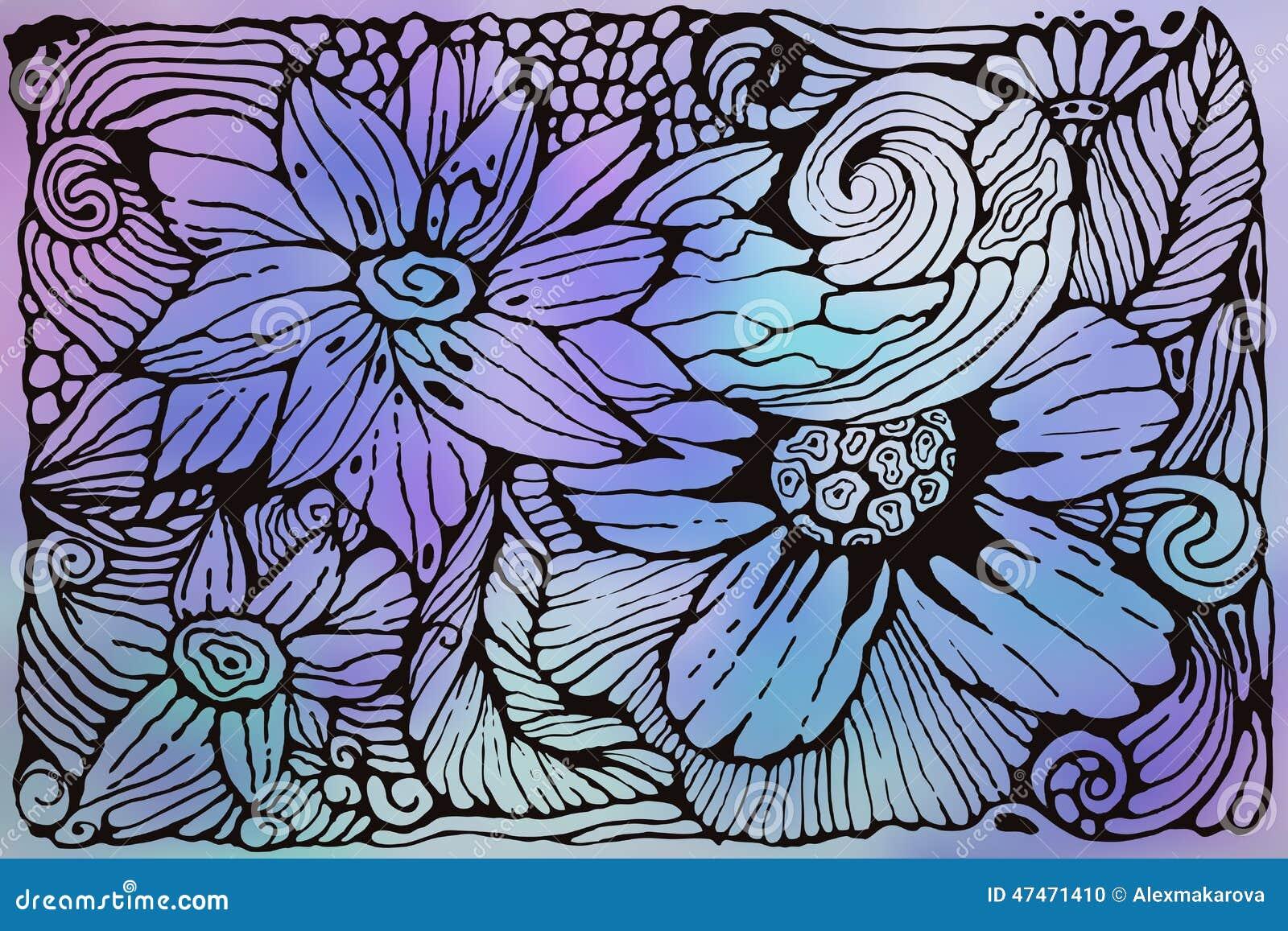 Modelo enrrollado del vector con las flores