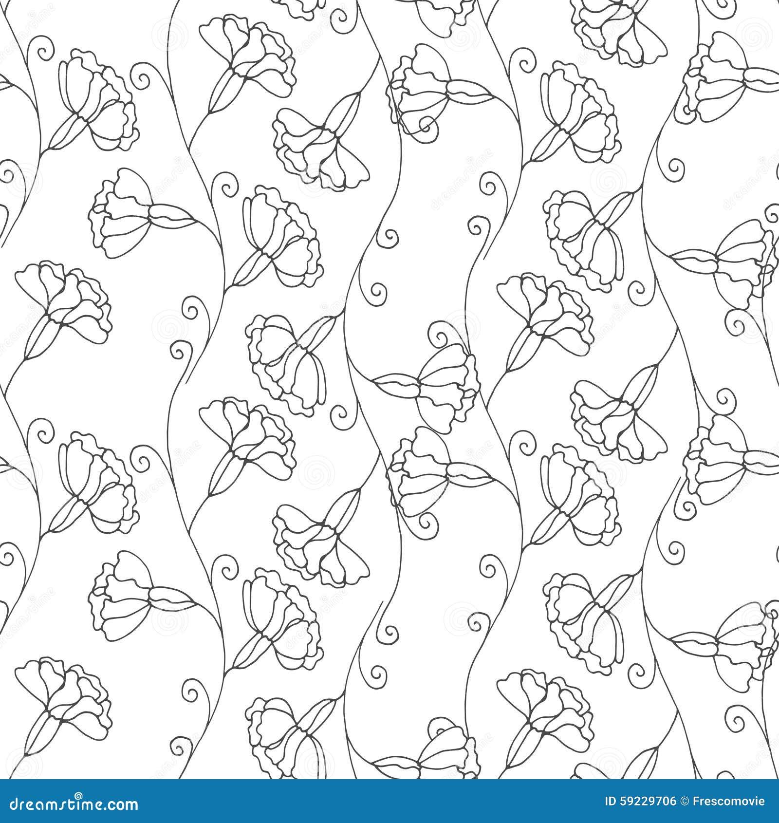 Download Modelo floral ilustración del vector. Ilustración de colorante - 59229706