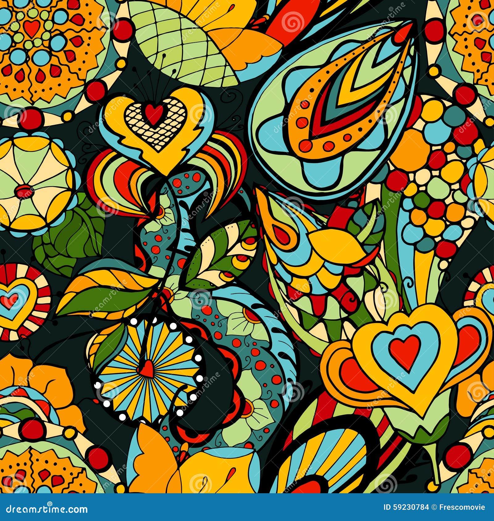Download Modelo floral ilustración del vector. Ilustración de ornamento - 59230784