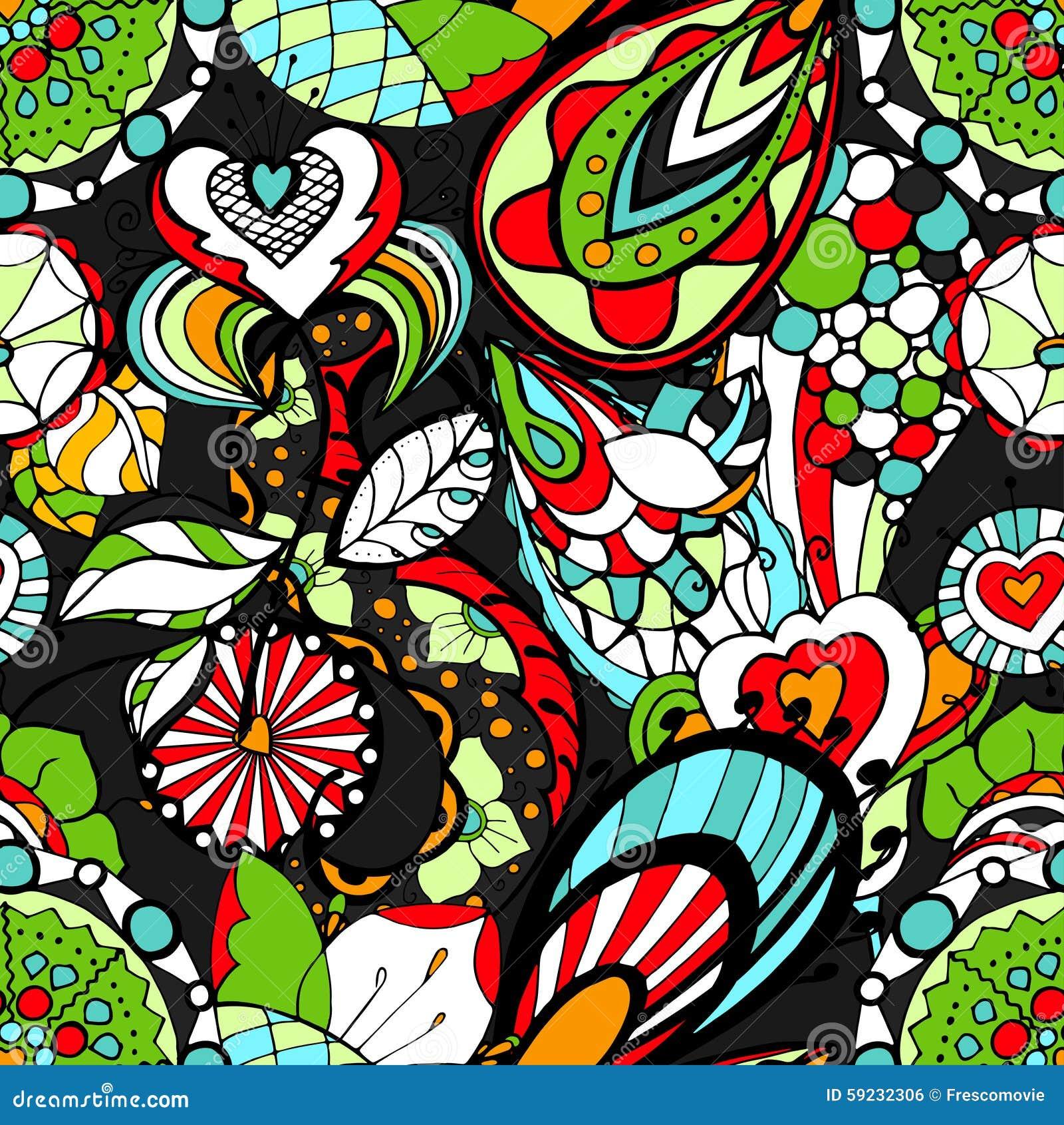 Download Modelo floral ilustración del vector. Ilustración de arte - 59232306