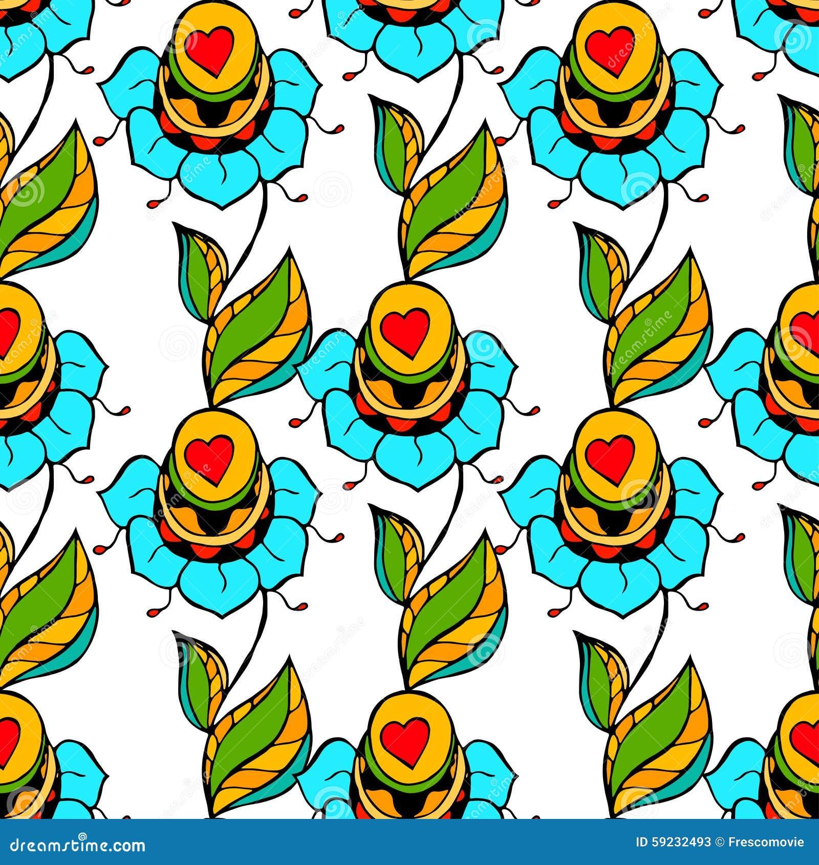 Download Modelo floral ilustración del vector. Ilustración de decoración - 59232493