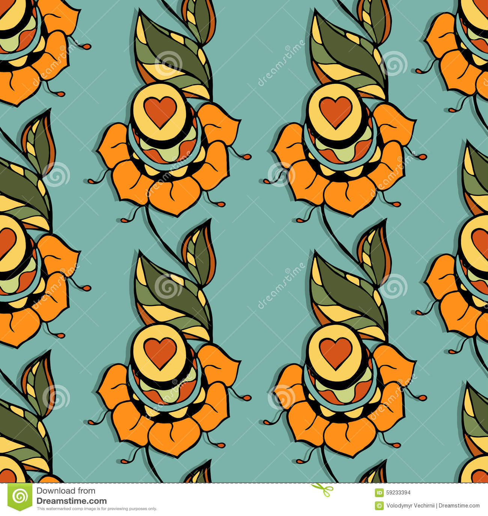 Download Modelo floral ilustración del vector. Ilustración de fondo - 59233394