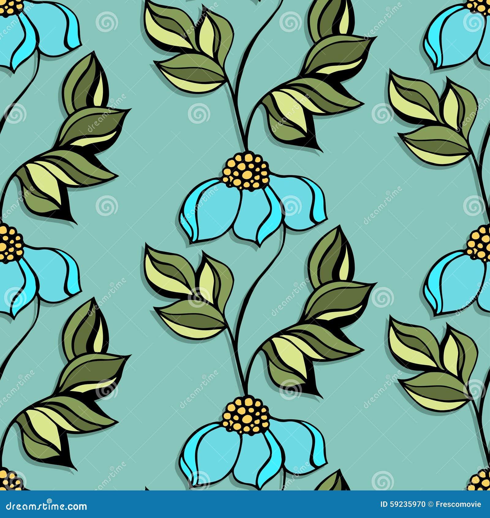 Download Modelo floral ilustración del vector. Ilustración de contexto - 59235970