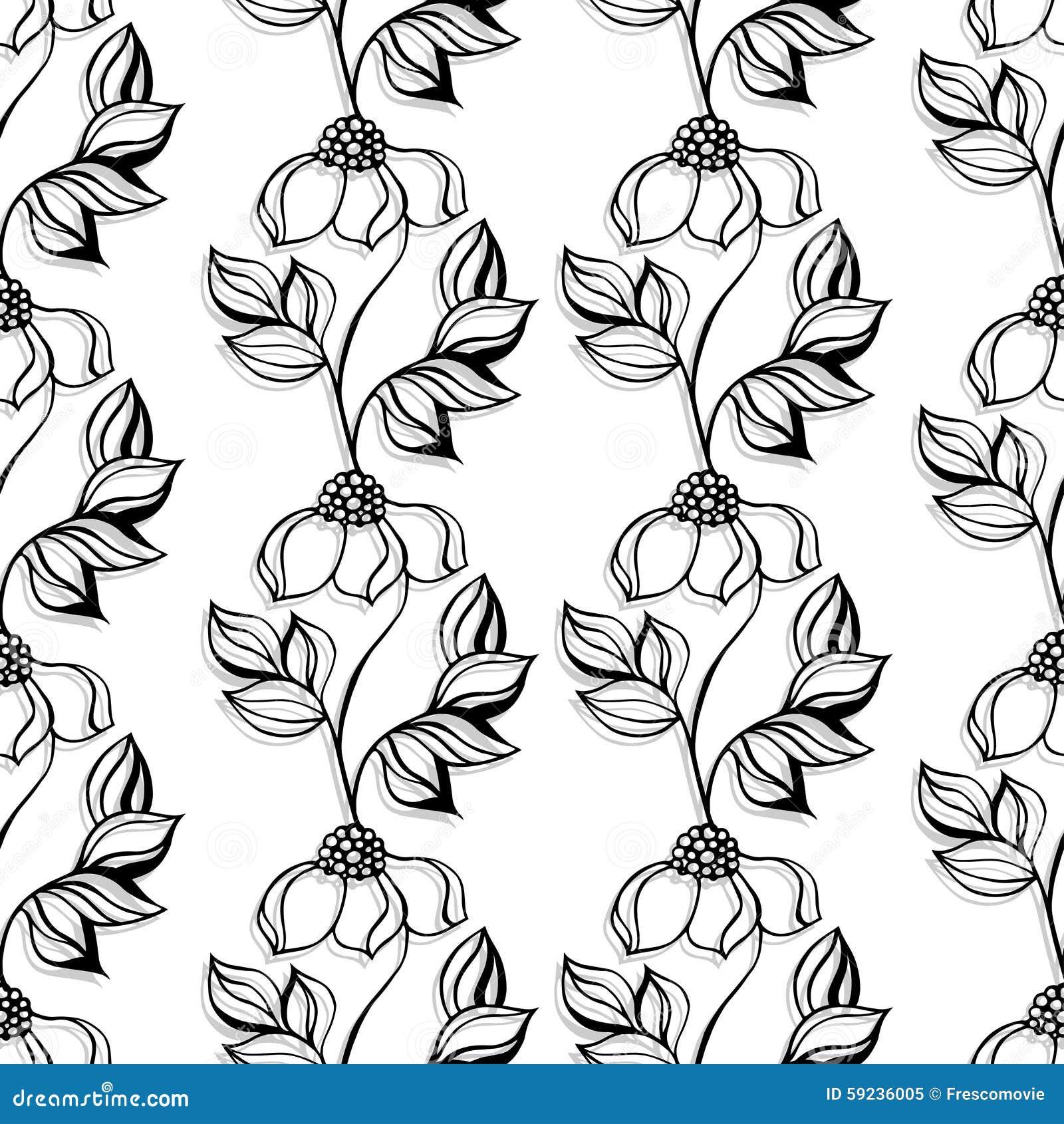 Download Modelo floral ilustración del vector. Ilustración de decoración - 59236005