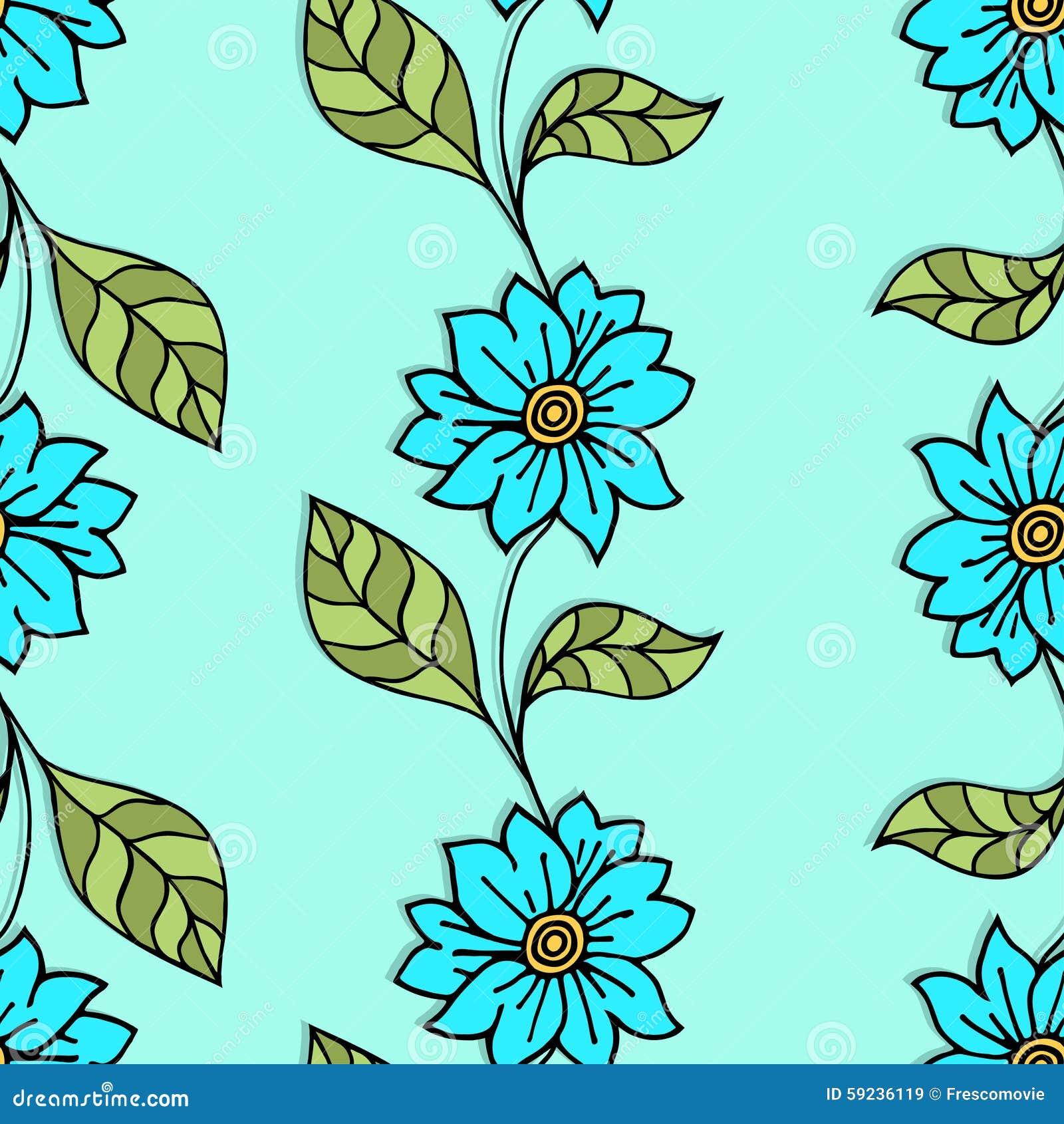 Download Modelo floral ilustración del vector. Ilustración de enrollamiento - 59236119