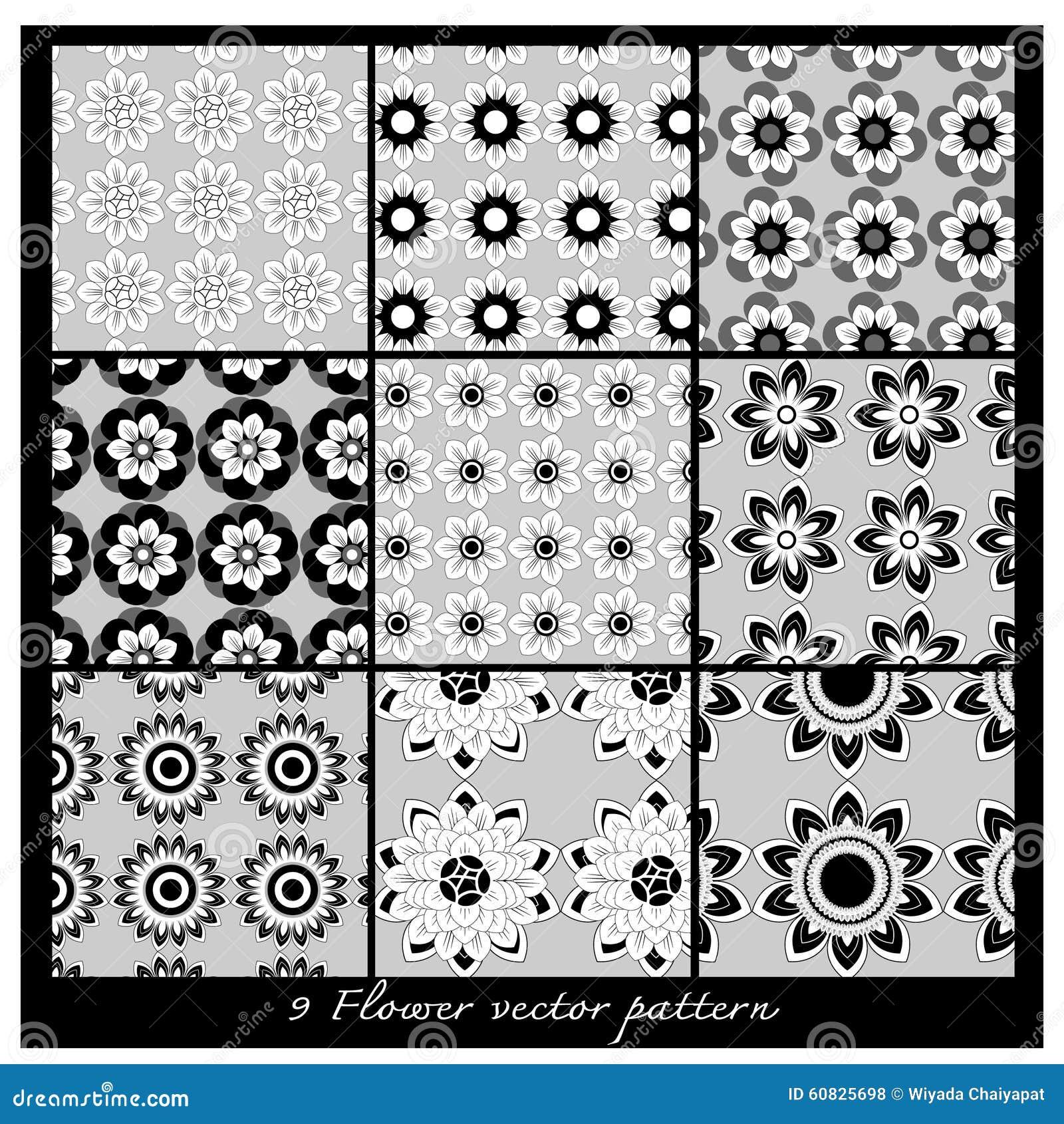 Modelo floral del vector