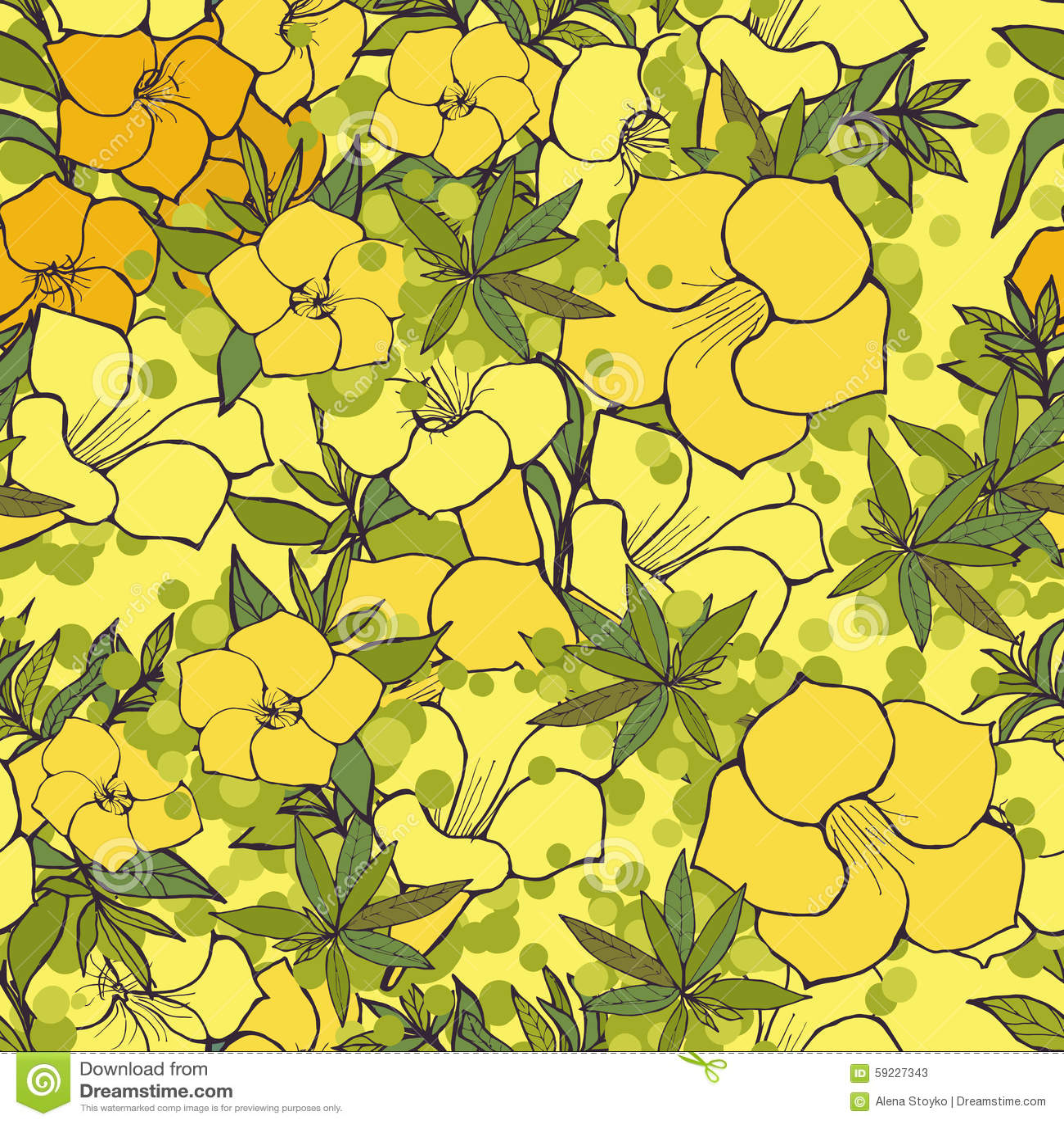 Download Modelo floral inconsútil ilustración del vector. Ilustración de belleza - 59227343