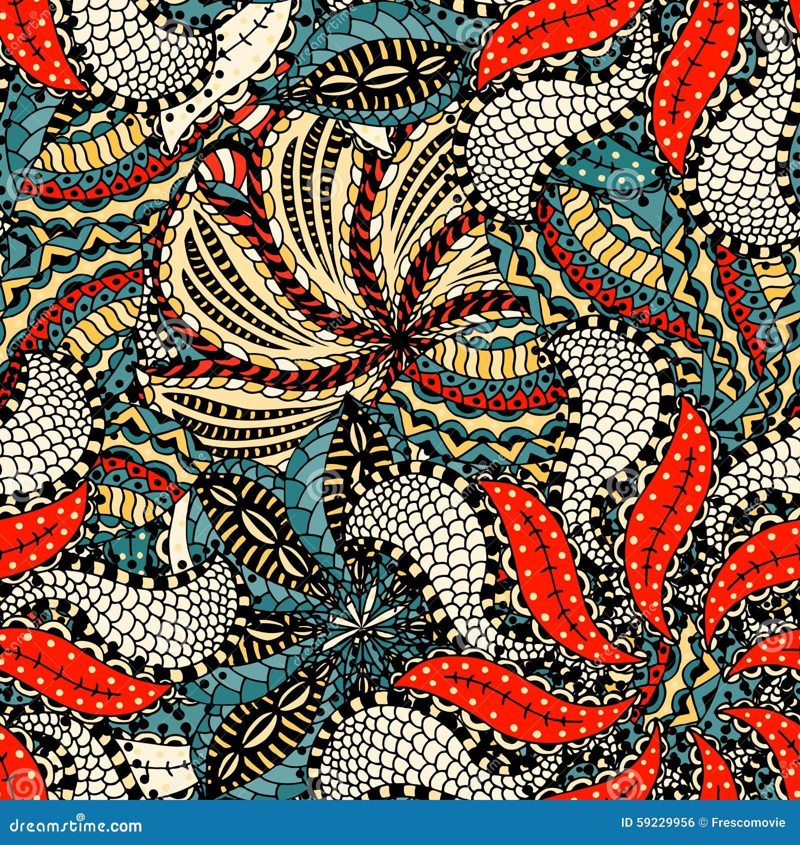 Download Modelo floral inconsútil ilustración del vector. Ilustración de tela - 59229956
