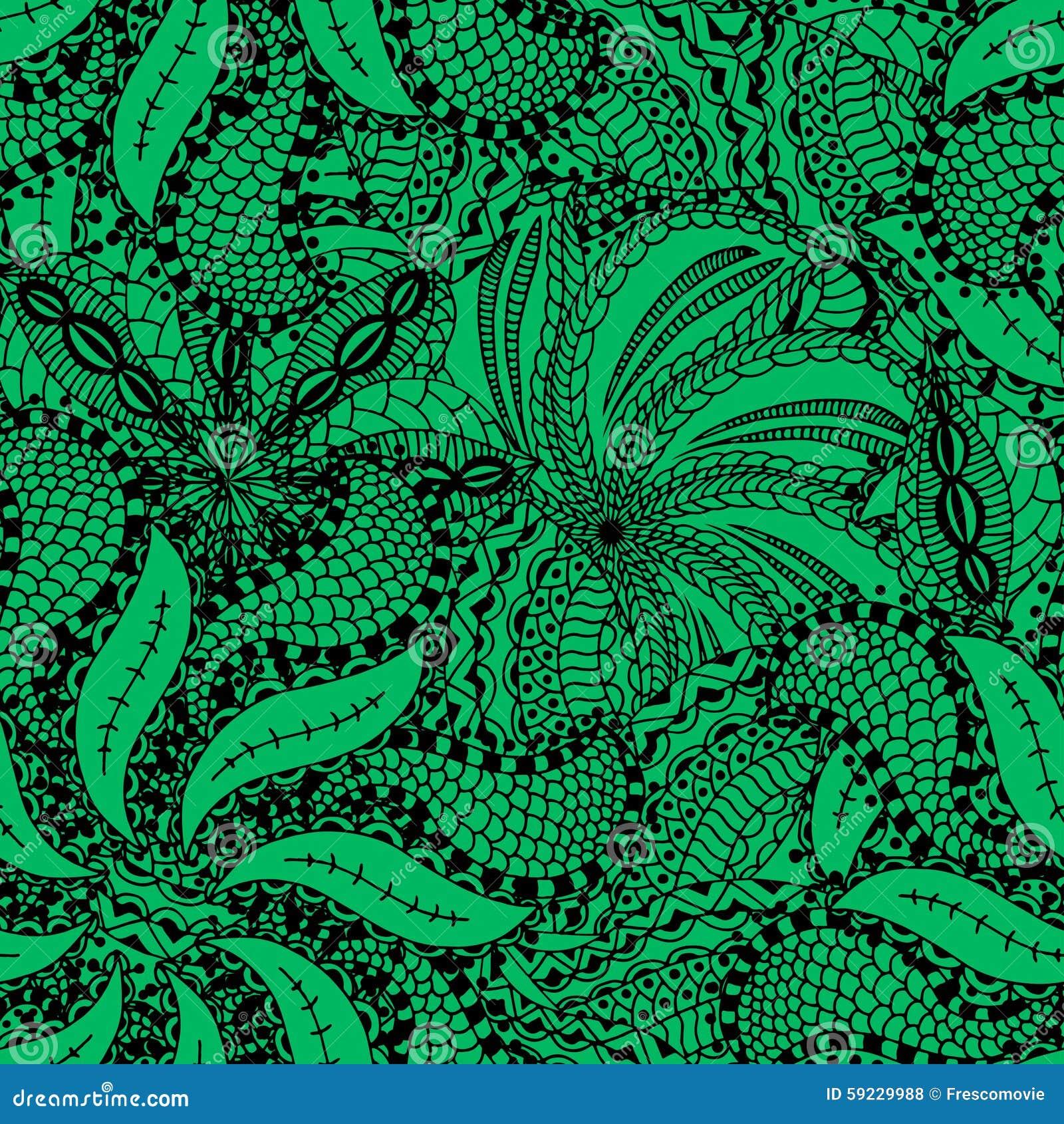 Download Modelo floral inconsútil ilustración del vector. Ilustración de enrollamiento - 59229988