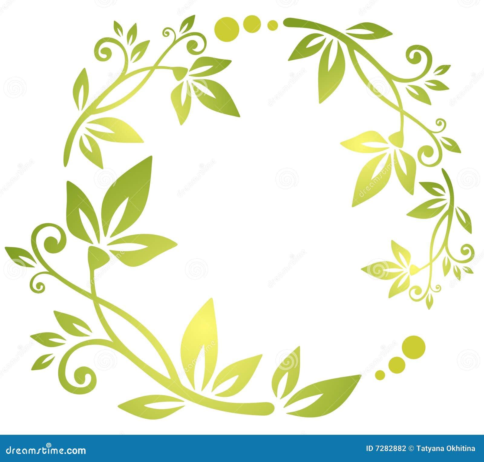 Modelo floral verde