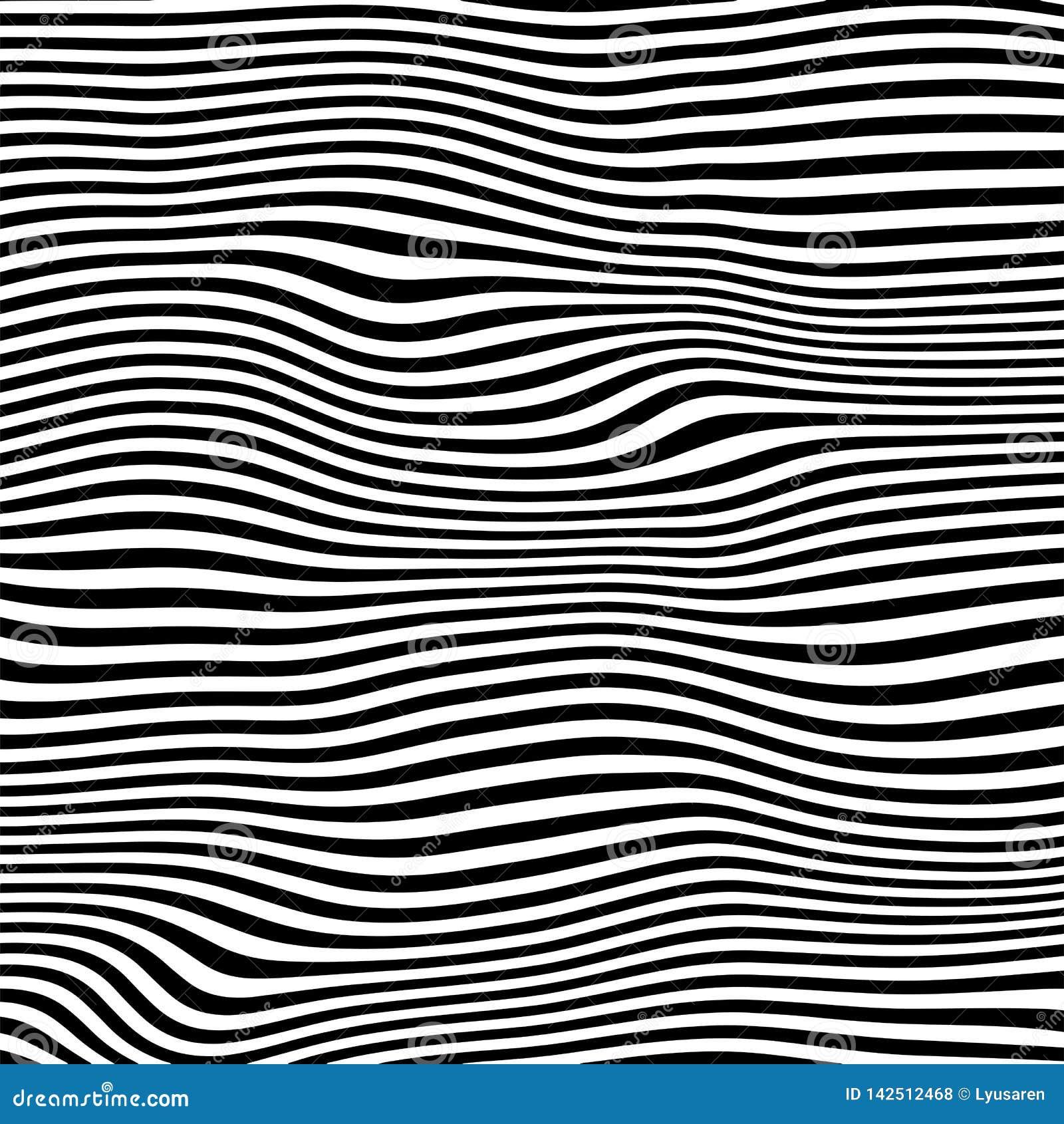 Modelo geométrico abstracto con efecto visual de la distorsión