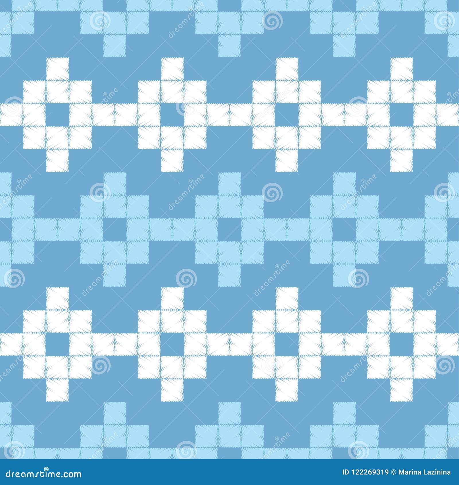 Modelo geométrico abstracto inconsútil El modelo de pixeles Textura de mosaico brushwork Trama de la mano Textura del garabato