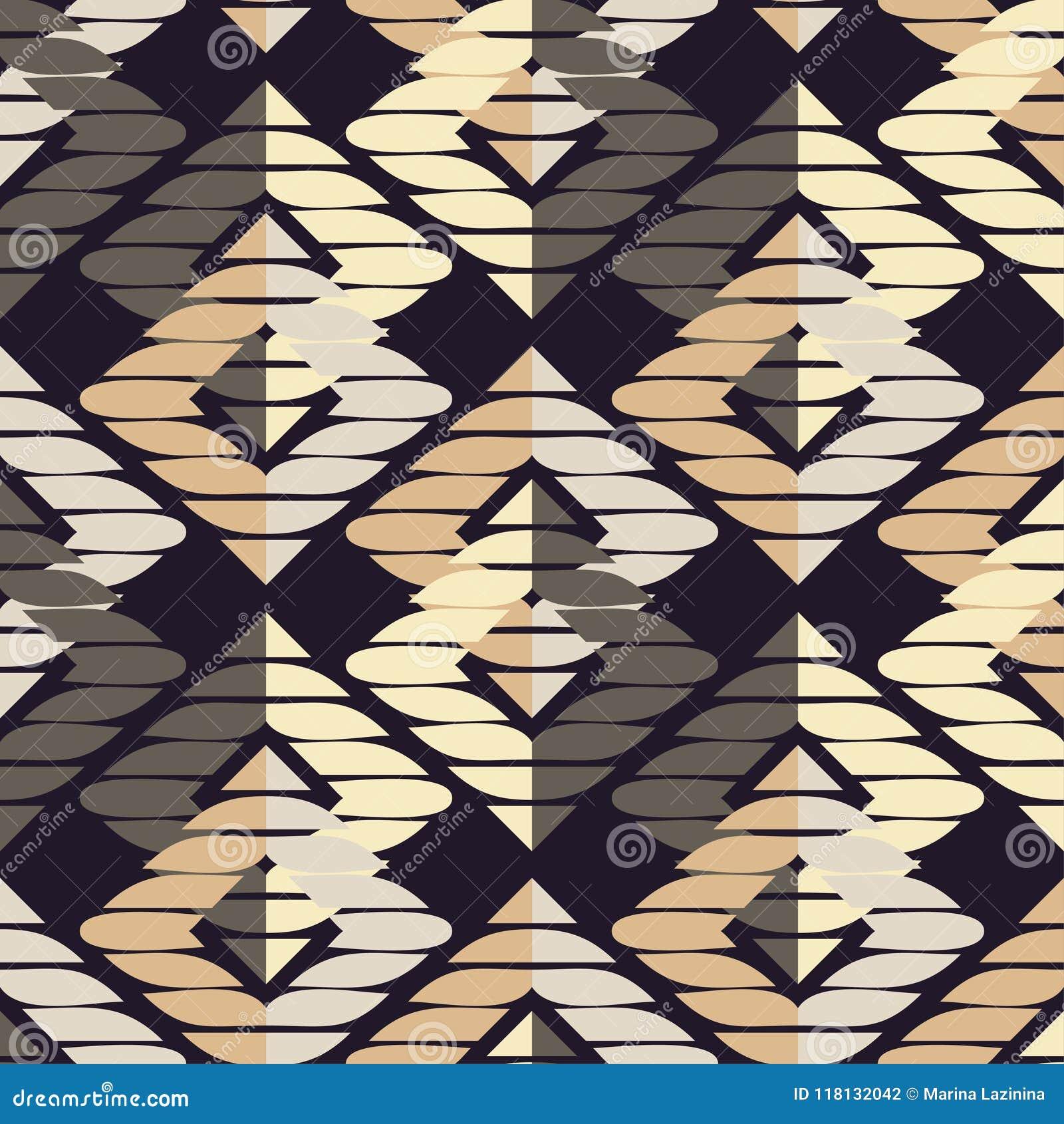 Modelo geométrico abstracto inconsútil La textura del Rhombus brushwork Trama de la mano Textura del garabato