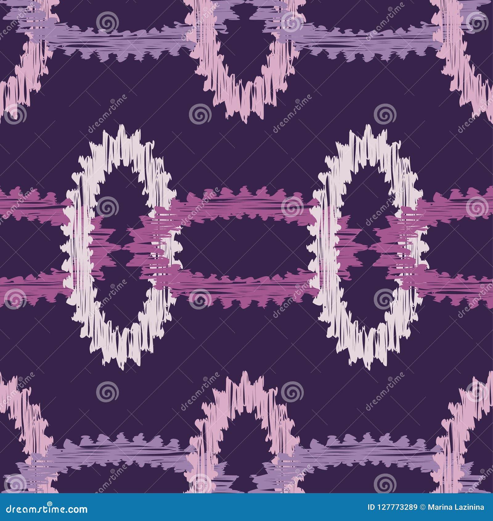 Modelo geométrico abstracto inconsútil Textura de mosaico brushwork Trama de la mano