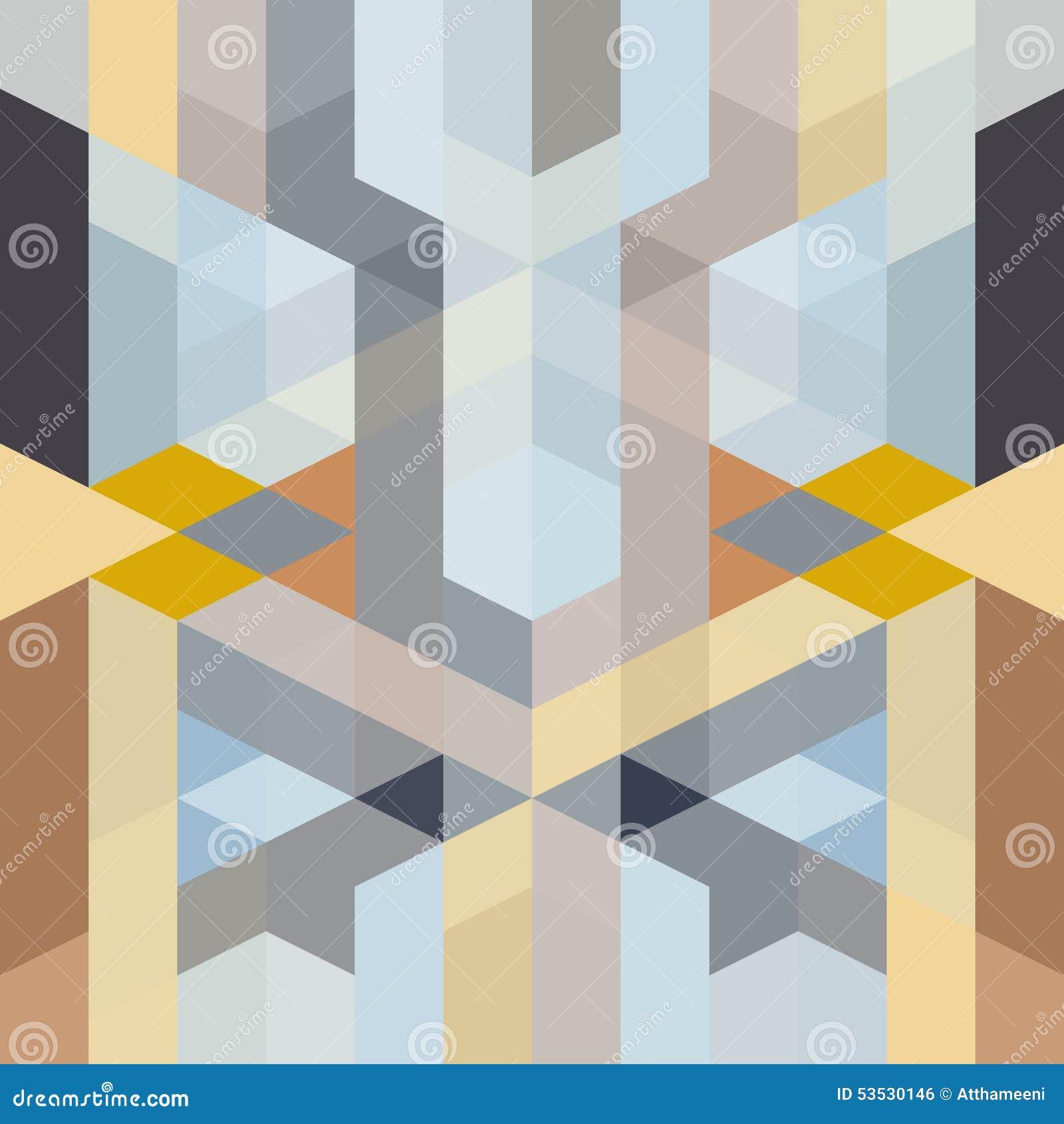 Modelo geométrico del art déco retro abstracto