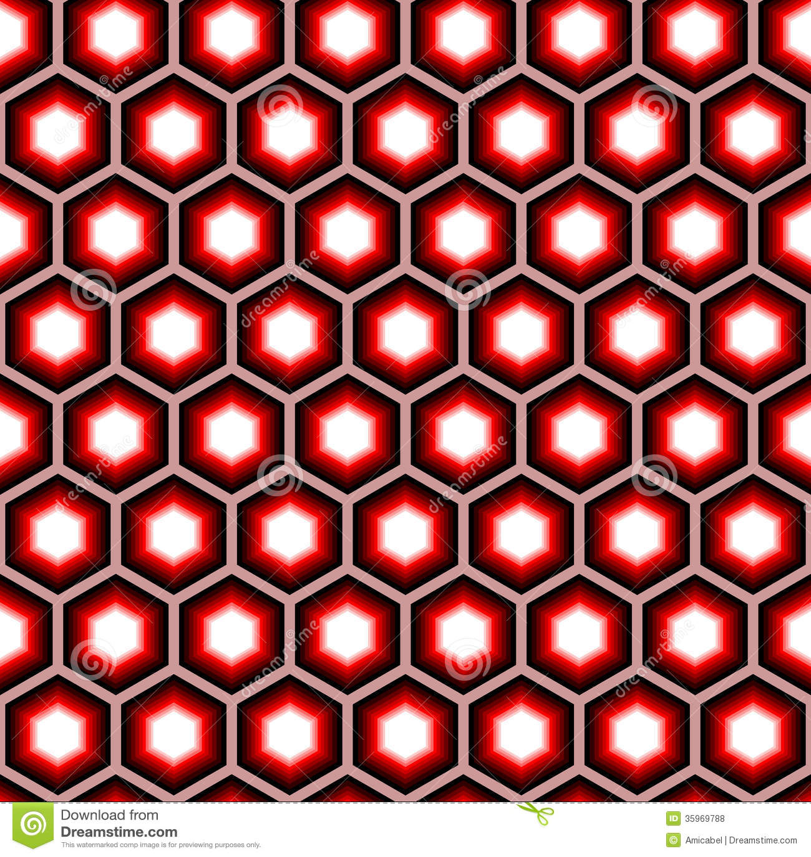 Modelo geométrico del hexágono inconsútil del diseño. Colorfu