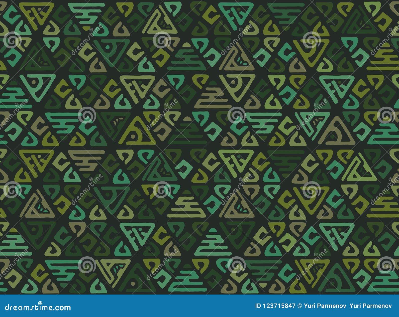 Modelo geométrico inconsútil étnico de triángulos en el estilo de la tribu Fondo del remiendo para el papel pintado