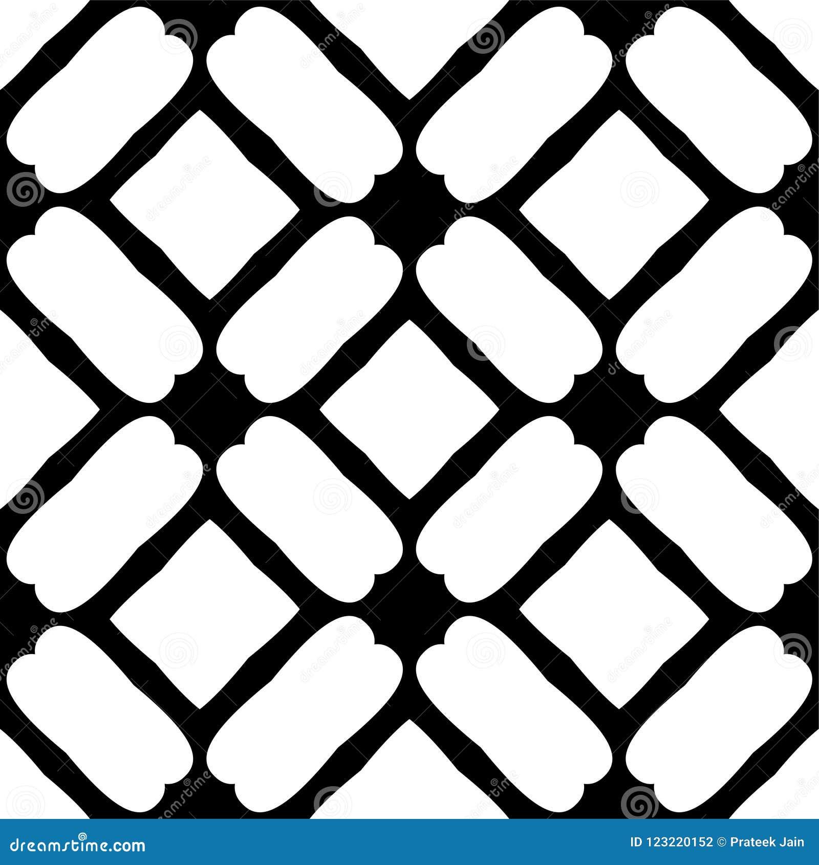 Modelo geométrico inconsútil blanco y negro
