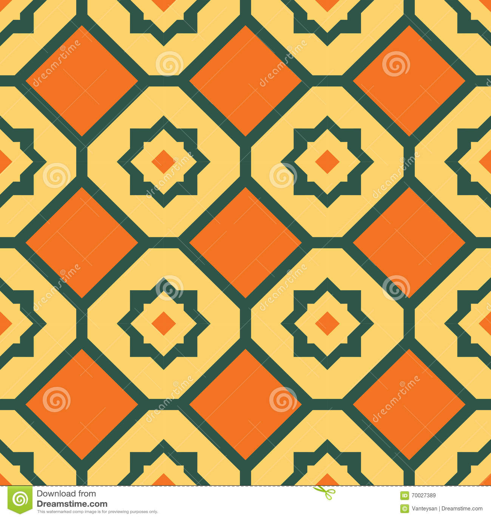 Modelo geométrico inconsútil del amarillo anaranjado