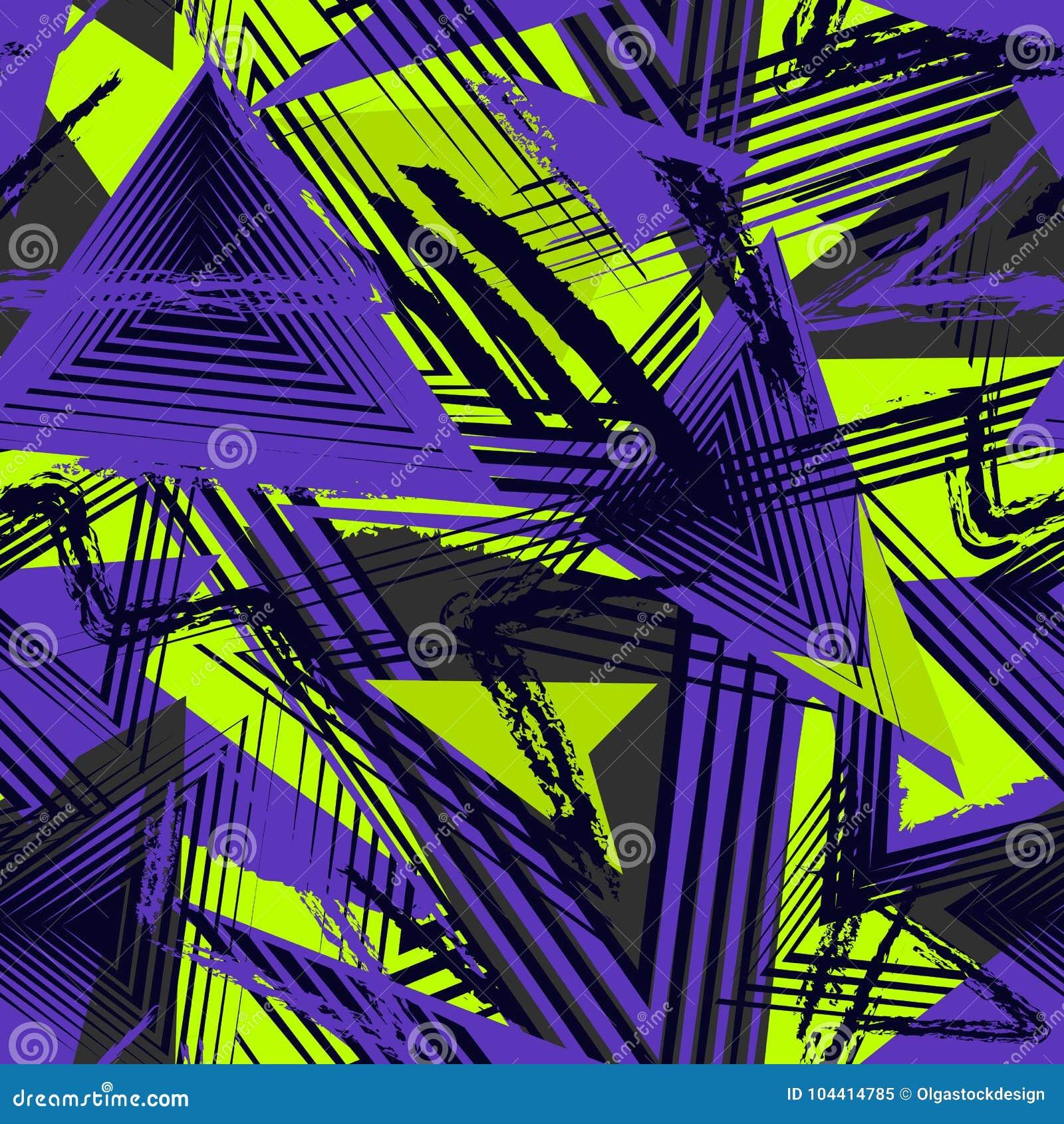 Modelo geométrico inconsútil, estilo del deporte Textura urbana de Grunge