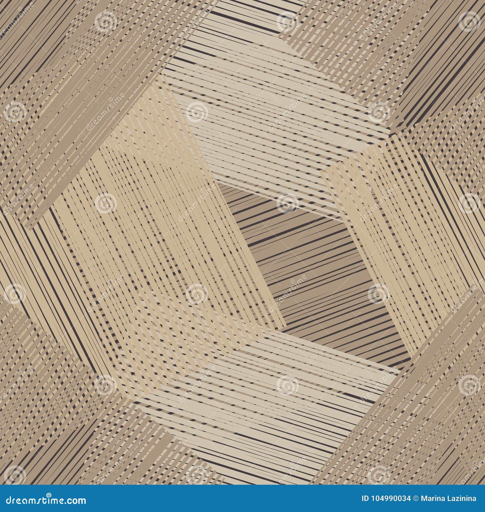 Modelo geométrico inconsútil Piso de Brown con textura de madera Textura del garabato